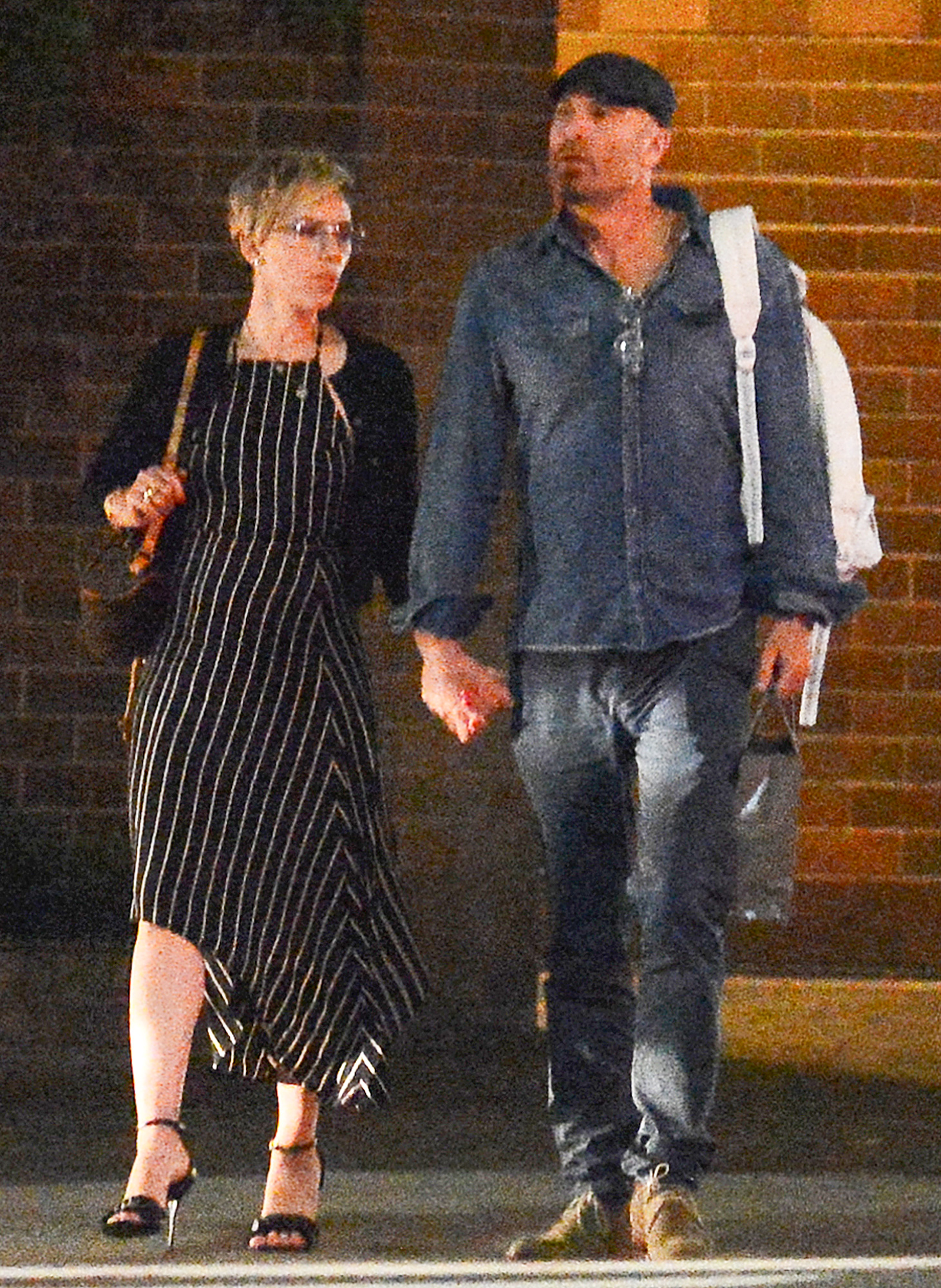 PREMIUM EXCLUSIVE: Scarlett Johansson has a Late Night with a Mystery Man After a Romantic Dinner in New York City