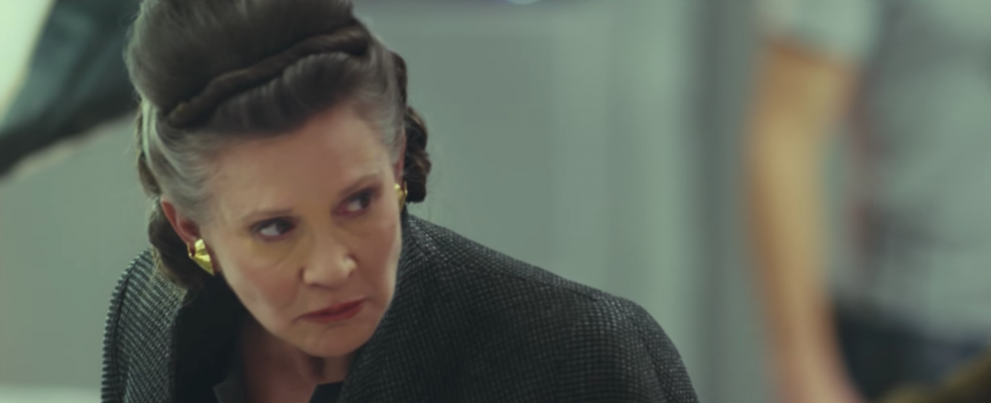 Carrie Fisher in Star Wars the Last Jedi