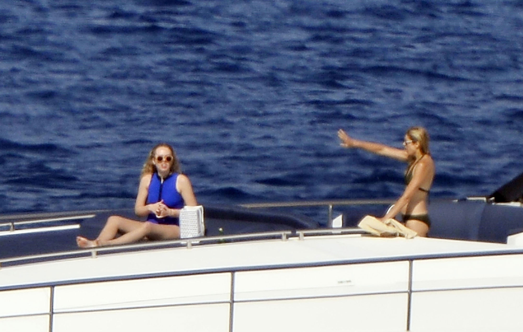 *PREMIUM-EXCLUSIVE* Tiffany Trump and mother Marla Maples travel on a luxury yacht in Ponza Island
