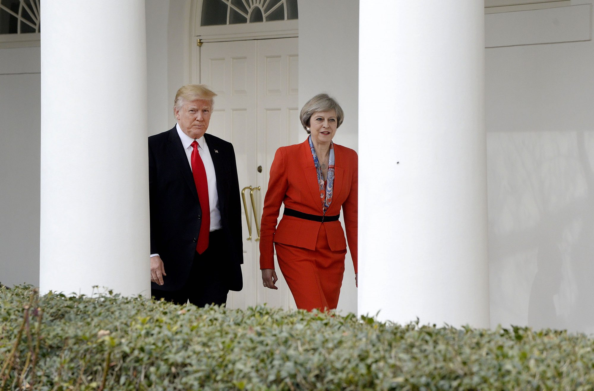 President Trumps Holds Bilateral Meeting With UK Prime Minister Theresa May In Oval Office