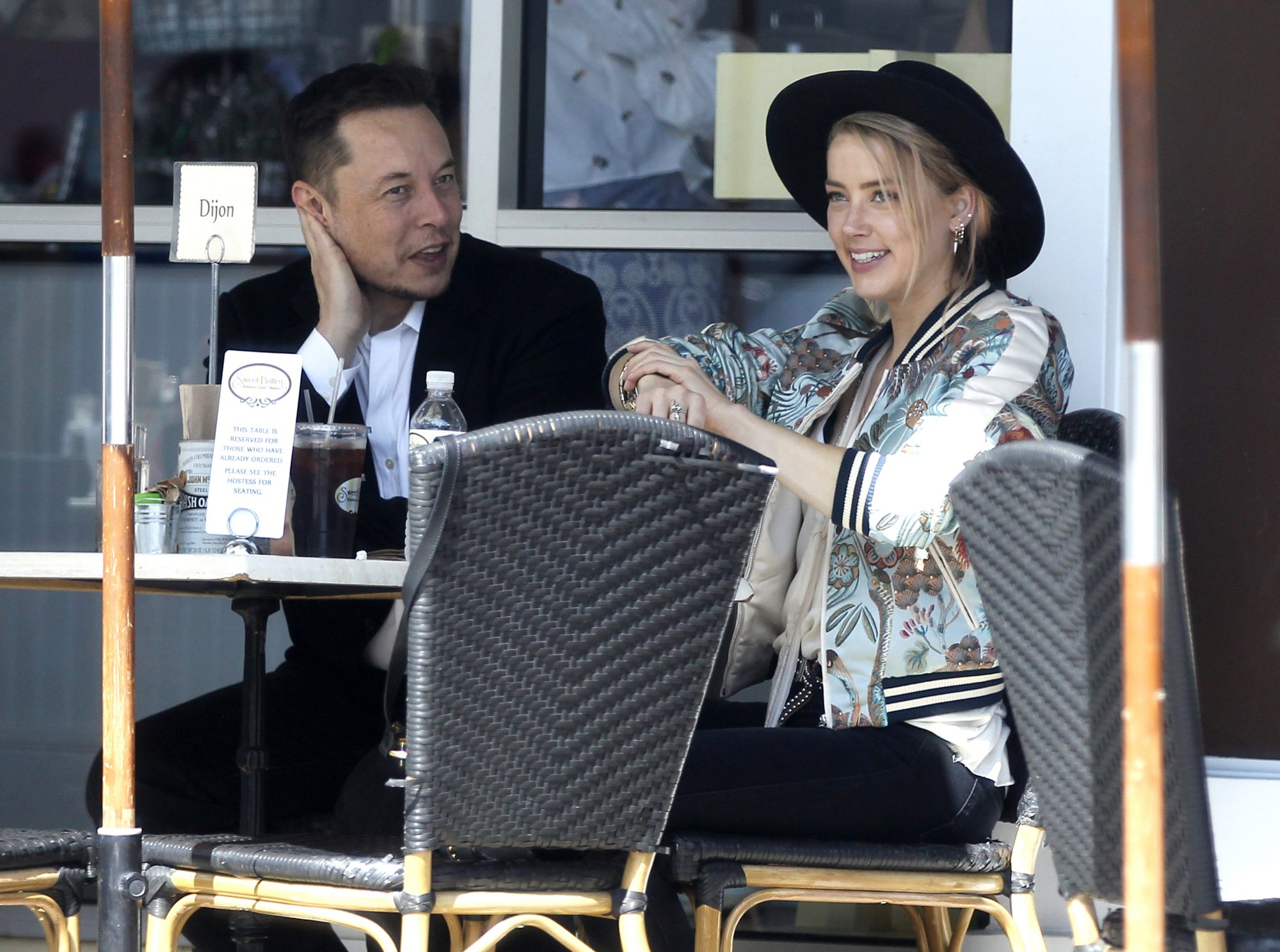 EXCLUSIVE: Elon Musk and Amber Heard spotted going for lunch at Sweet Butter restaurant in Sherman Oaks
