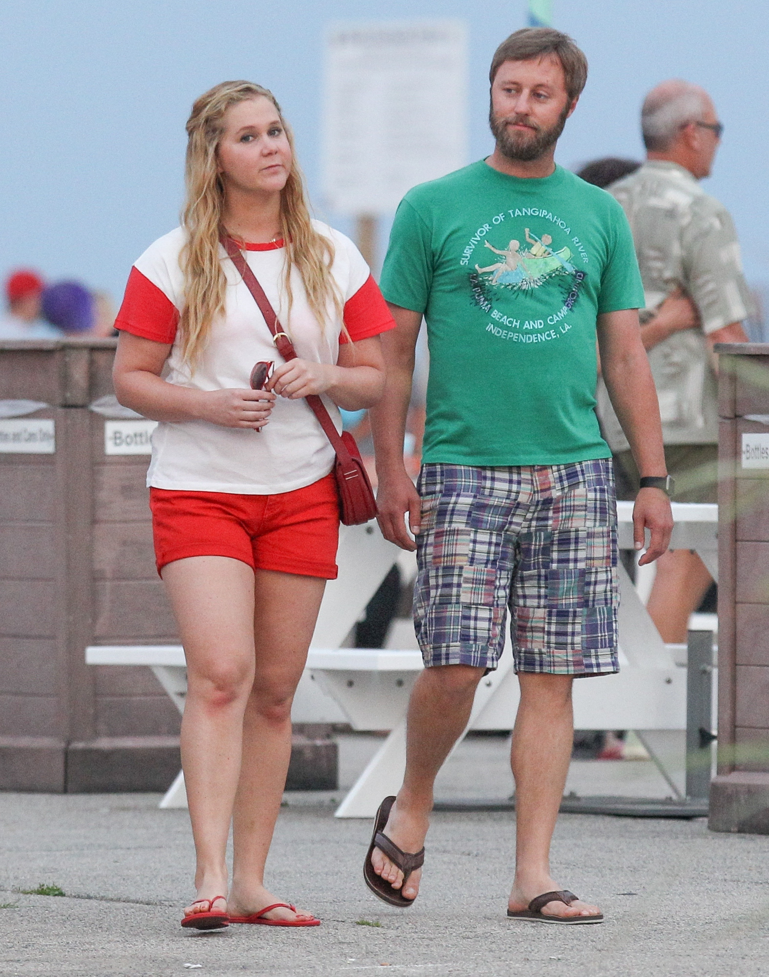 *EXCLUSIVE* Amy Schumer and Rory Scovel out for a date on the set of 'I Feel Pretty'