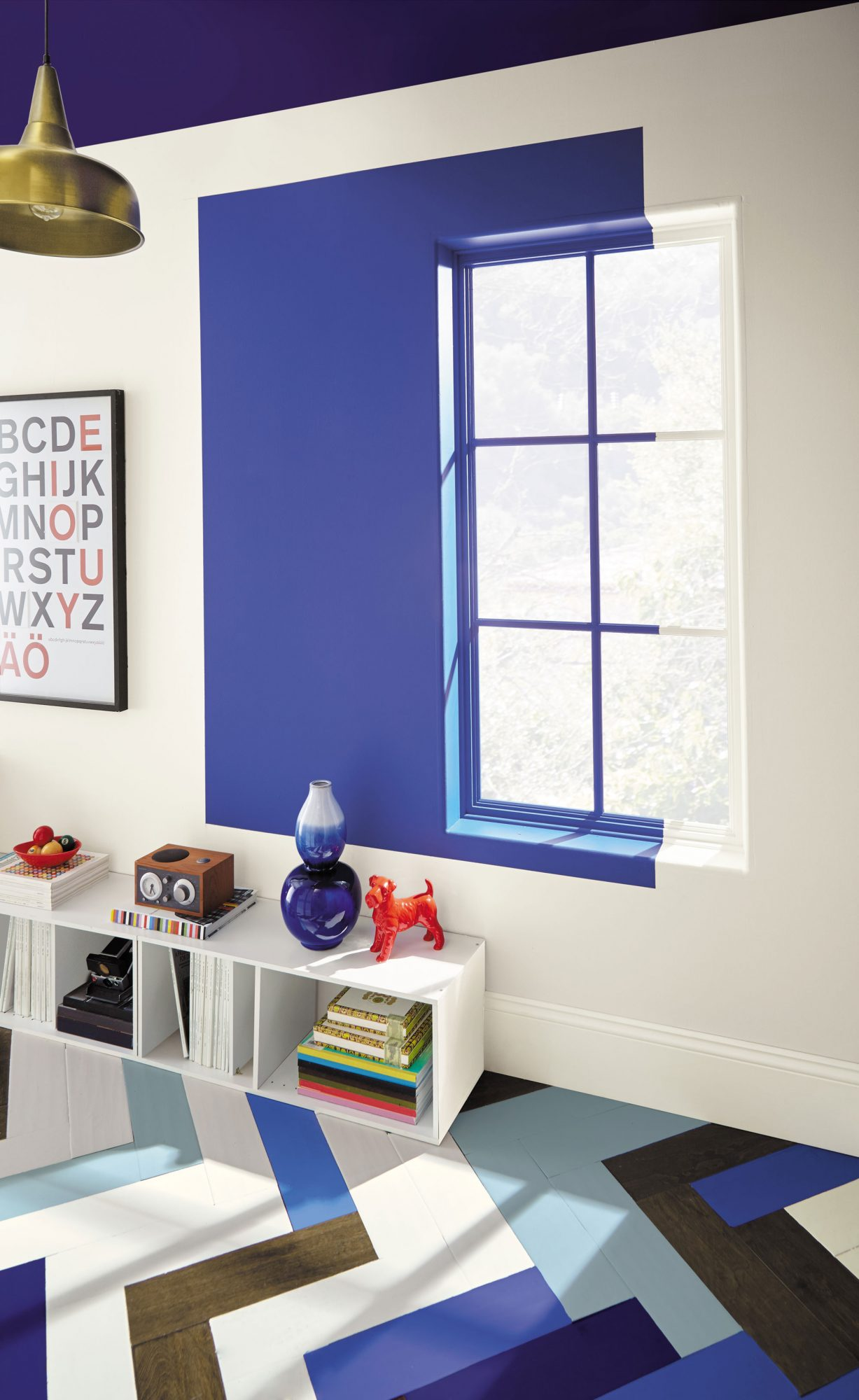 Door / Ceiling: Constellation Blue T18-18Window Wall Accent: Soul Search T18-14Floor: Soul Search T18-14, Constellation Blue T18-18, Casual Day T18-13, Soft Focus T18-09