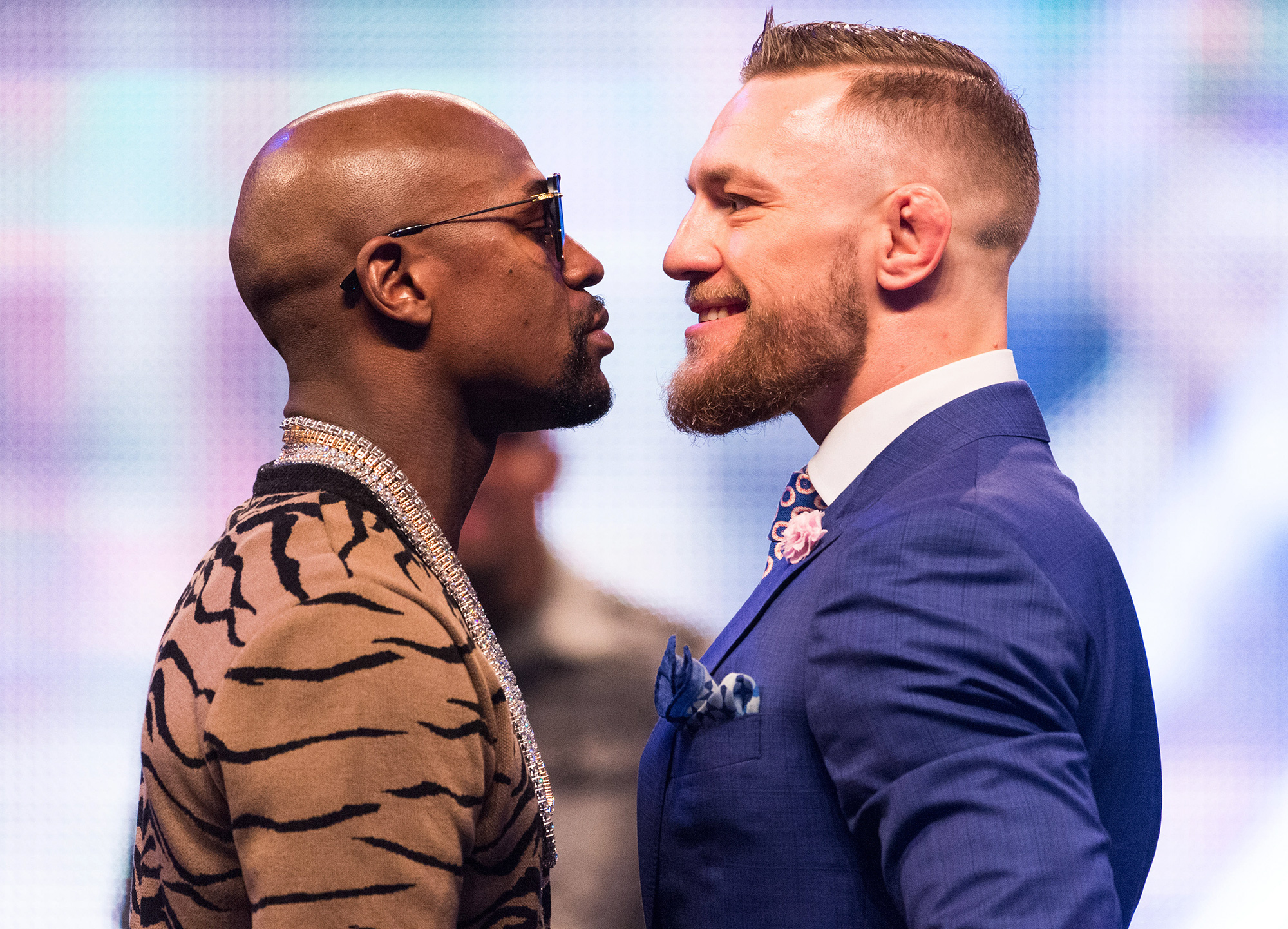 Floyd Mayweather and Conor McGregor World Tour in London.