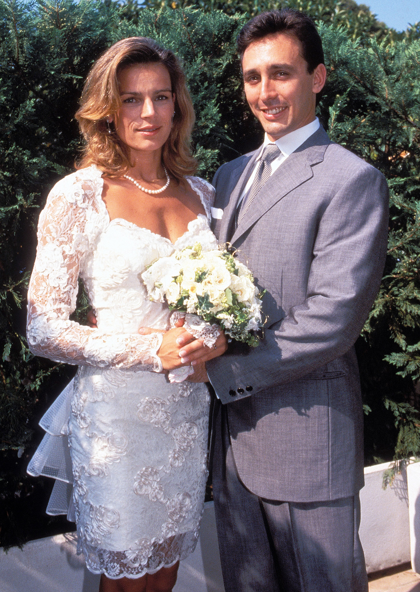 MONACO - JUNE 01: Stephanie and Daniel Ducruet's wedding In Monaco In June, 1995. (Photo by 5366/Gamma-Rapho via Getty Images)