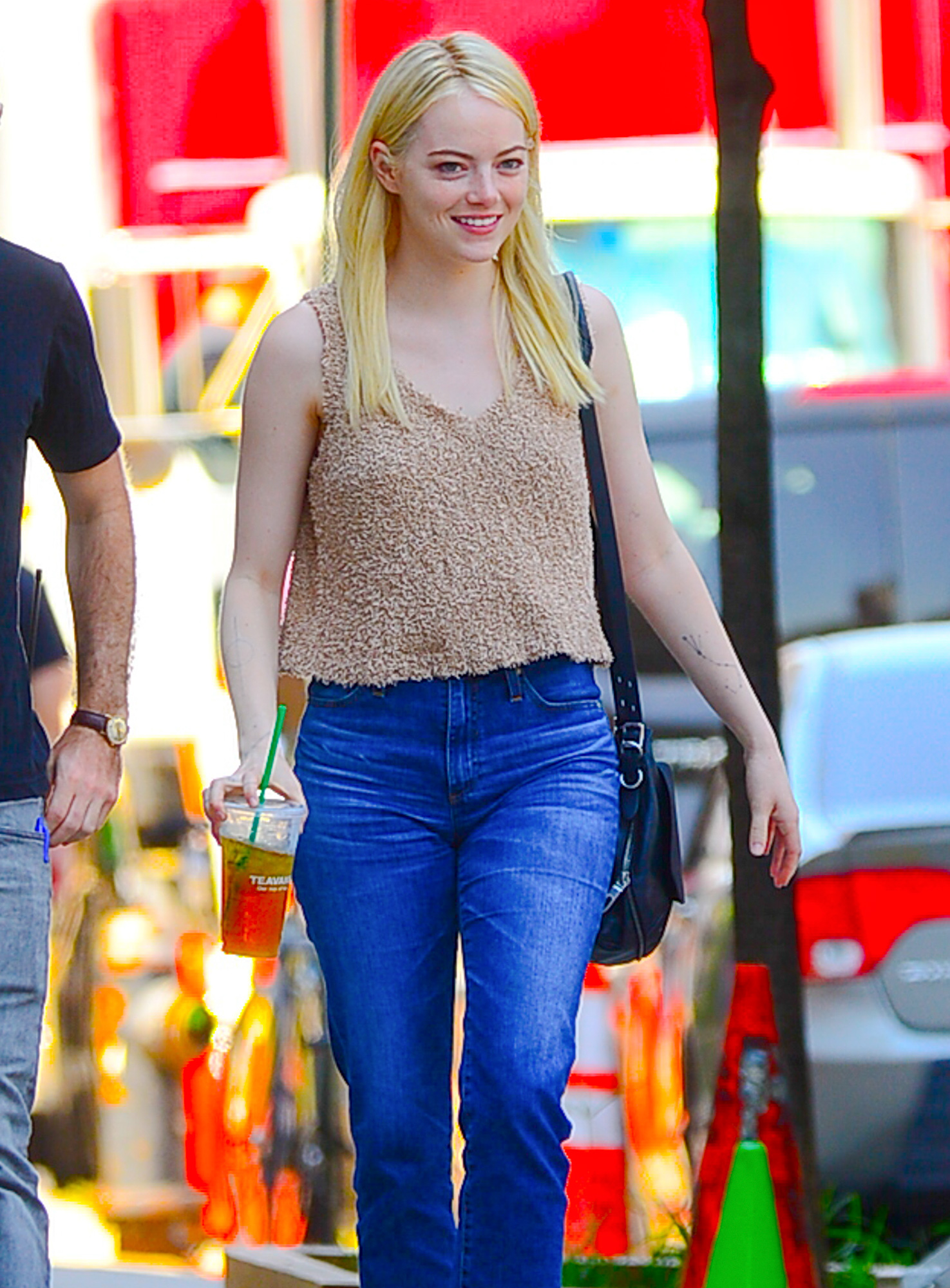 EXCLUSIVE: Emma Stone is spotted on the set of 'Maniac' in New York
