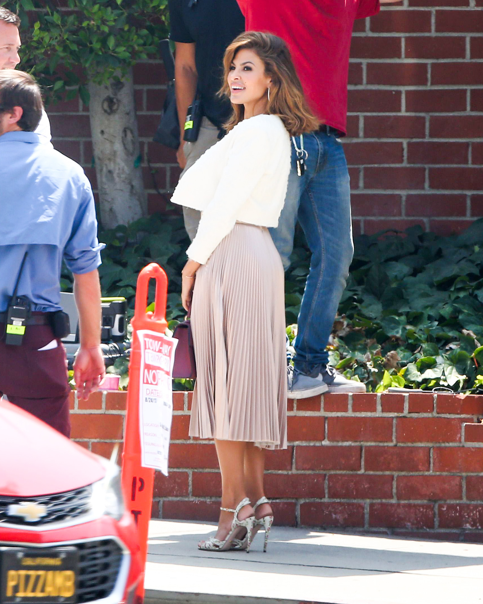 EXCLUSIVE: Eva Mendes spotted doing a photoshoot in Los Angeles