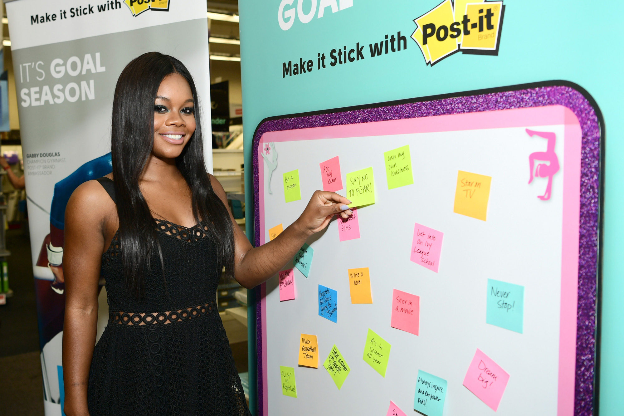 Champion Gymnast Gabby Douglas and Post-it Brand Make It Stick For Back-to-School 2017 at Staples in Burbank, CA