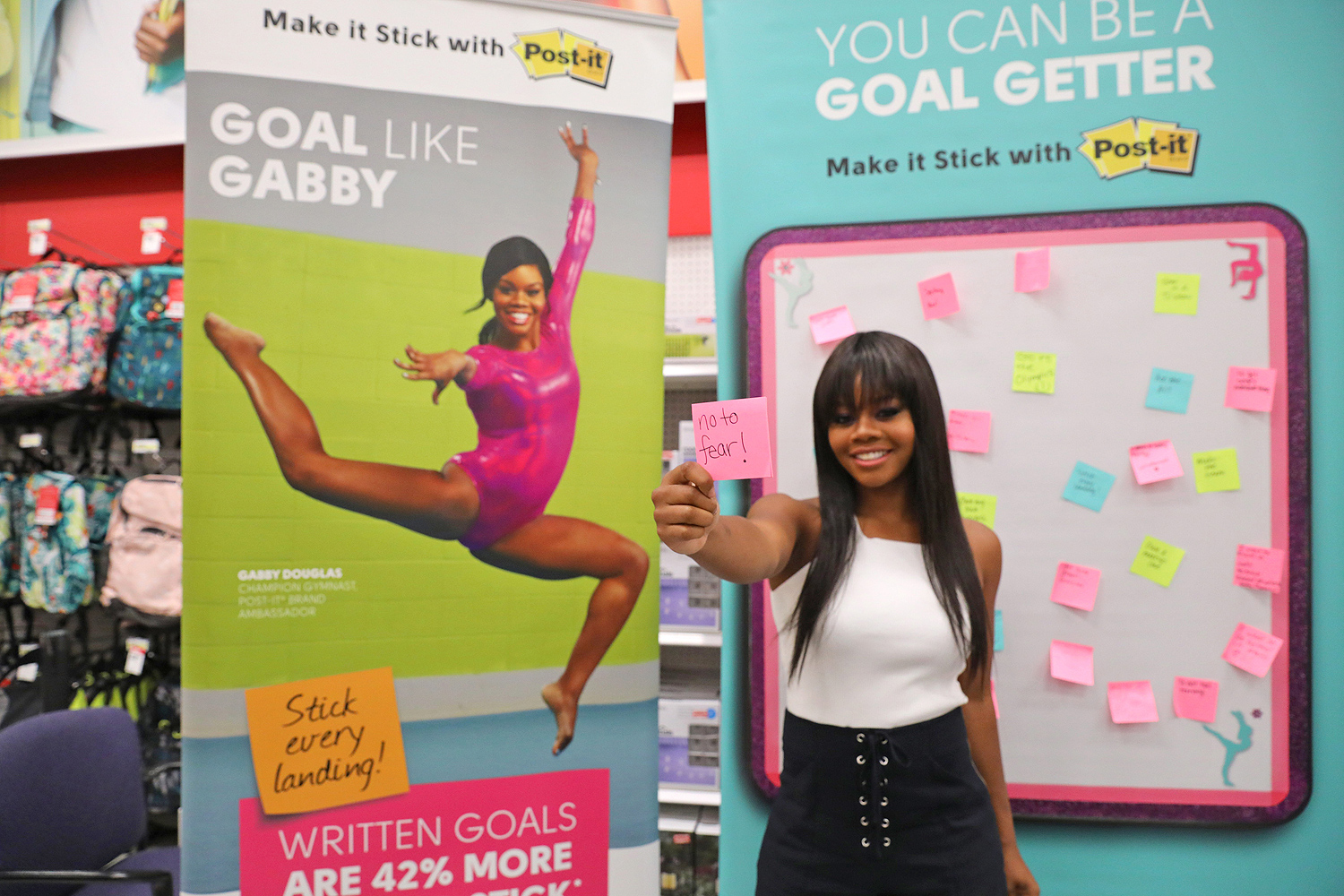 Champion Gymnast Gabby Douglas and Post-it Brand Make It Stick For Back-to-School 2017 at Target in Edina, MN