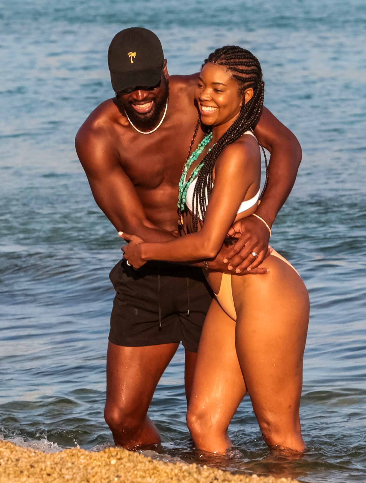 Dwayne Wade and Gabrielle Union on Mykonos