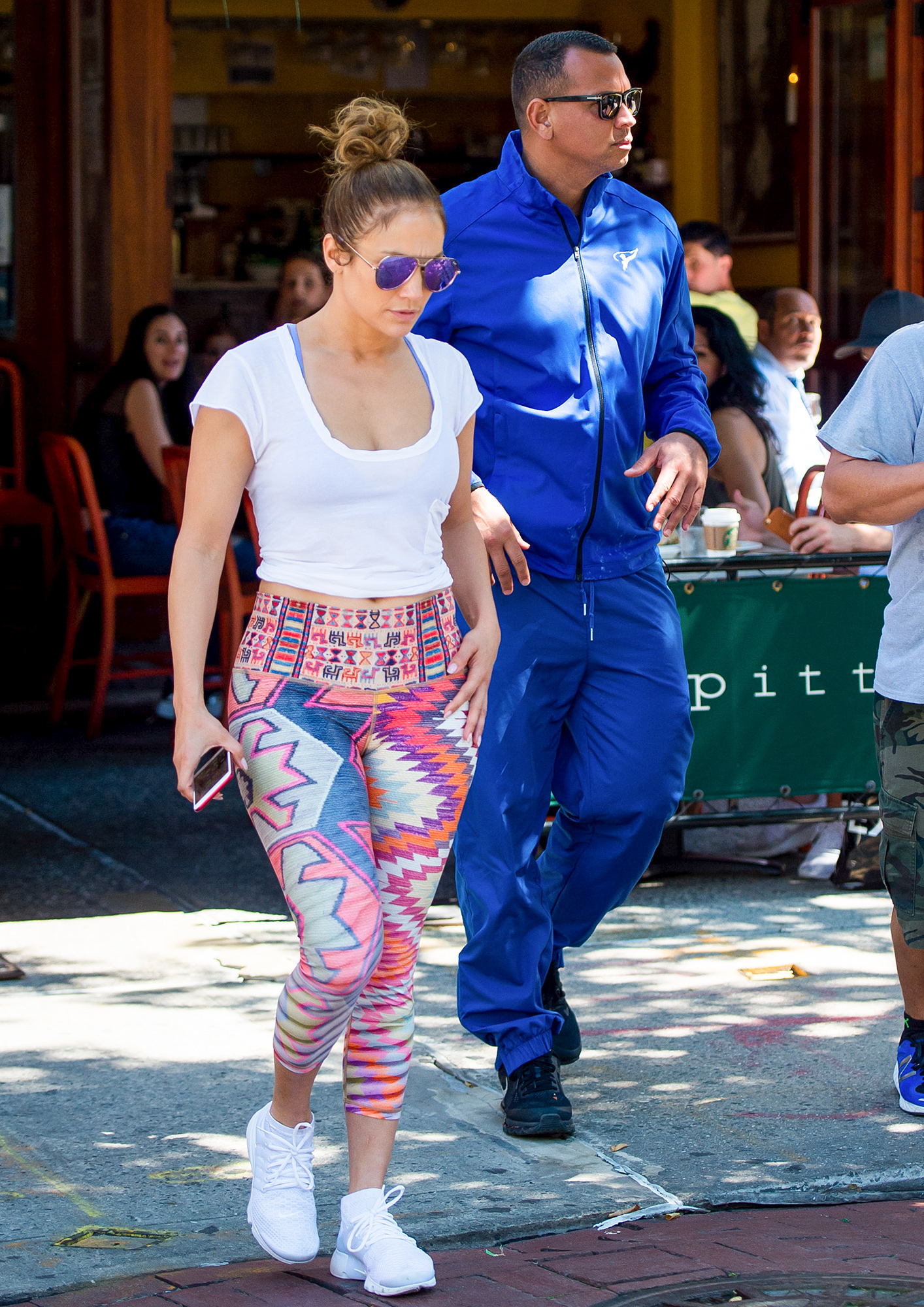 EXCLUSIVE: Jennifer Lopez and Alex Rodriguez seen at Bar Pitti celebrating her birthday