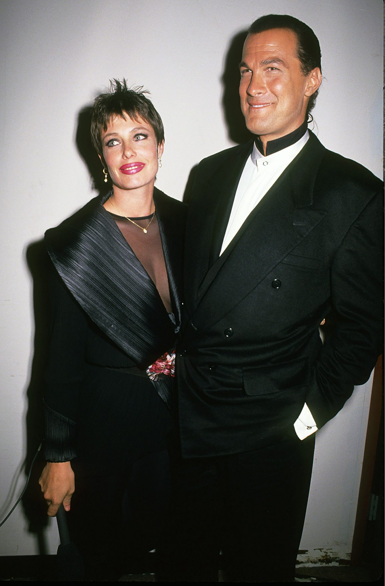 """Steven Seagal and Kelly LeBrock at film premiere of """"Out for Justice' - April 14th 1991"""