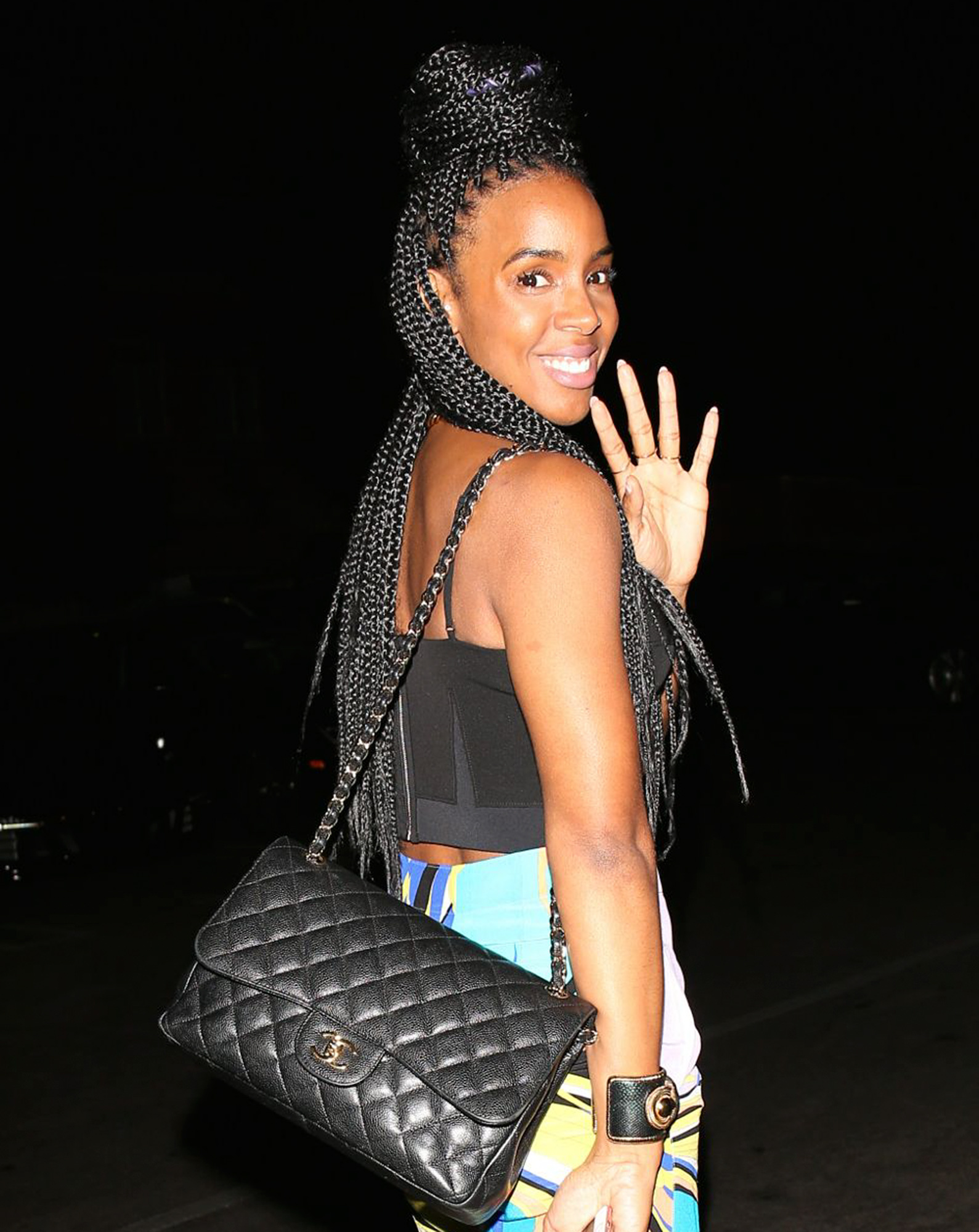 EXCLUSIVE: Kelly Rowland arrives to sushi dinner in Beverly Hills