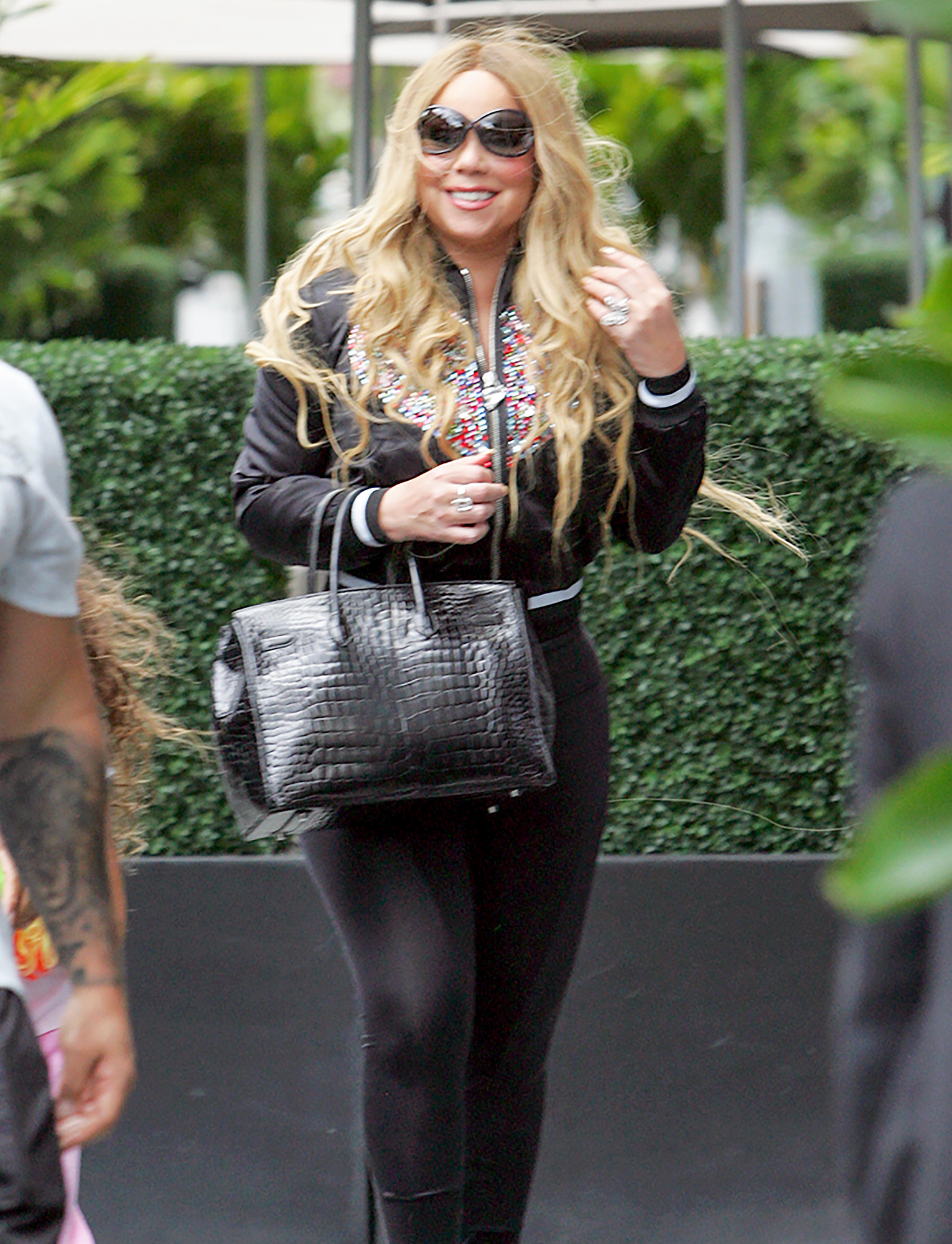 EXCLUSIVE: Mariah Carey arrives in Toronto in advance of a concert appearance