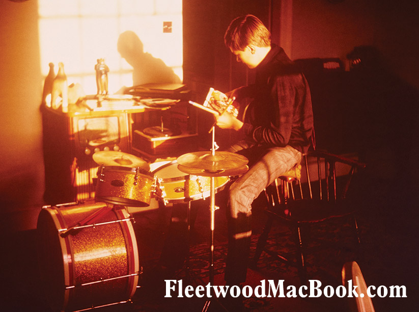 Mick & Gold Gigster Drumkit © Courtesy of Mick Fleetwood Archive