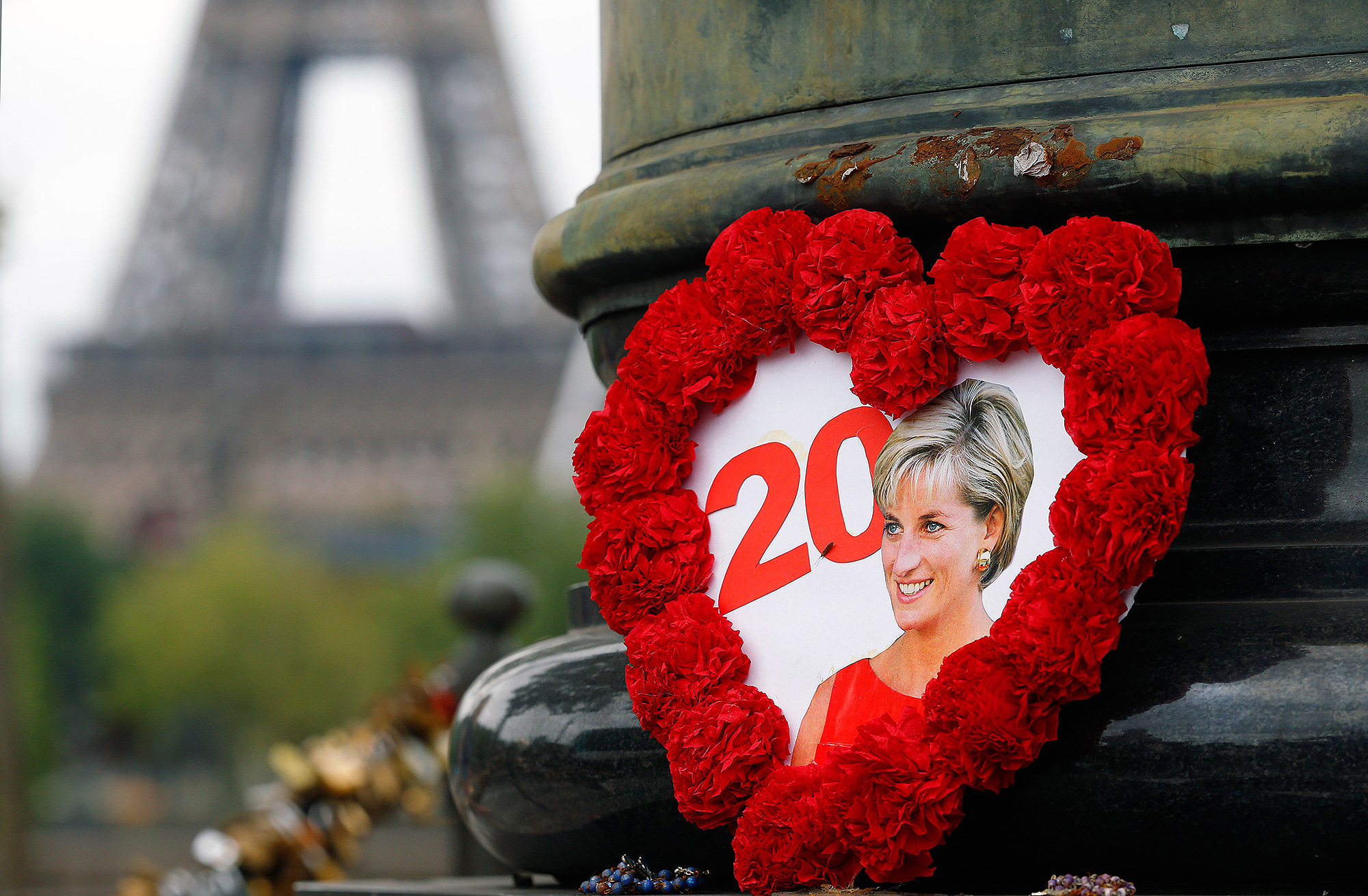 Tribute to Princess Diana At the Flame of Liberty Statue, Near Pont De L'Alma In Paris