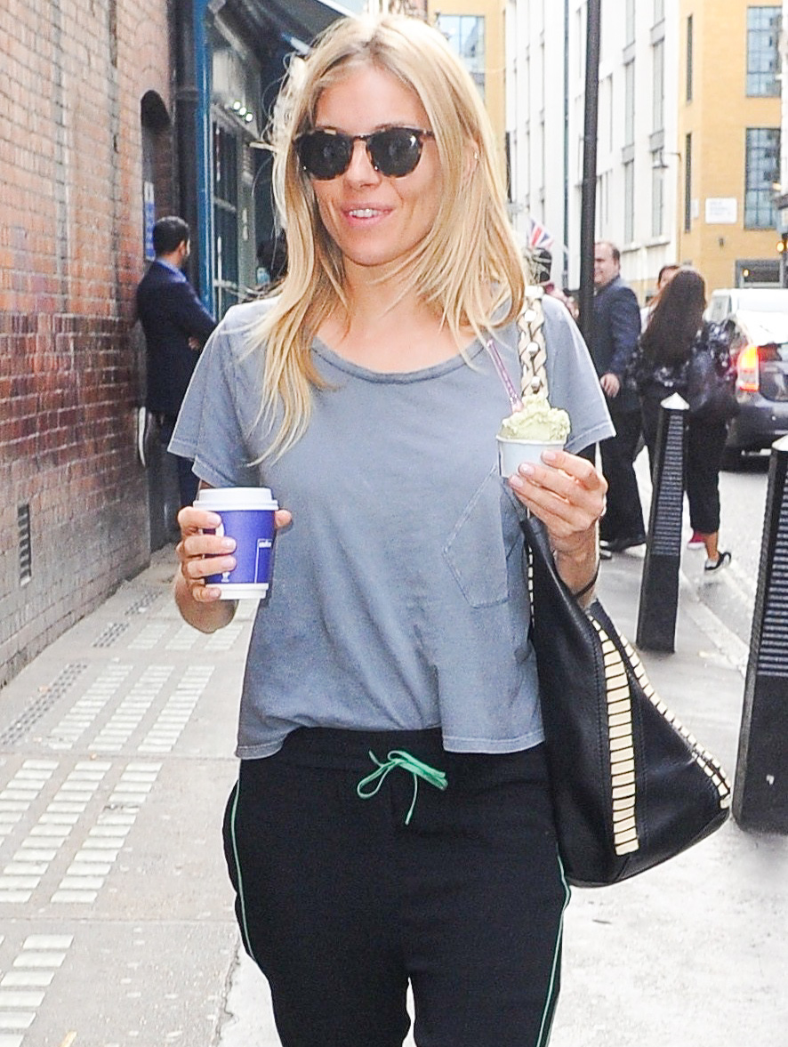 Sienna Miller Arrives At The Apollo Theatre In London