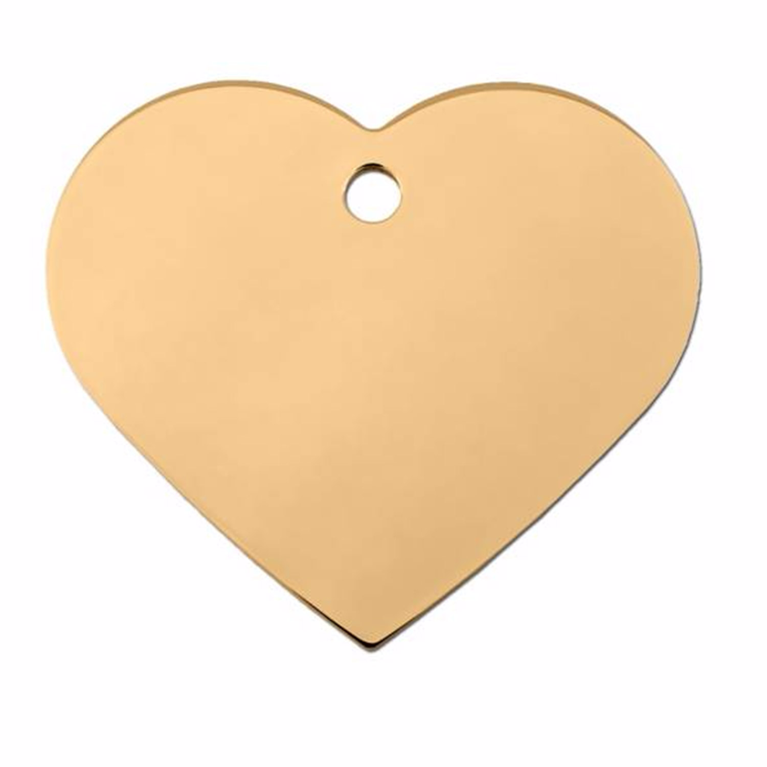 Quick-Tag Gold Heart Personalized Engraved Pet ID Tag