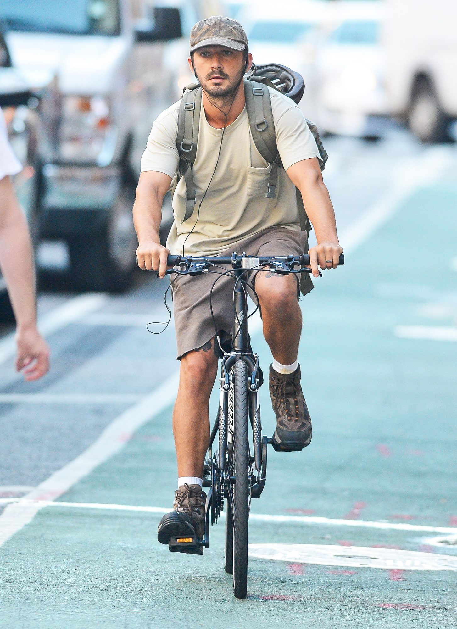 Shia Labeouf is Spotted Taking a Bike Ride in New York City