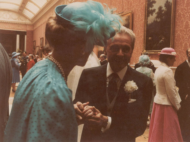 Princess Michael of Kent Chats with a Guest