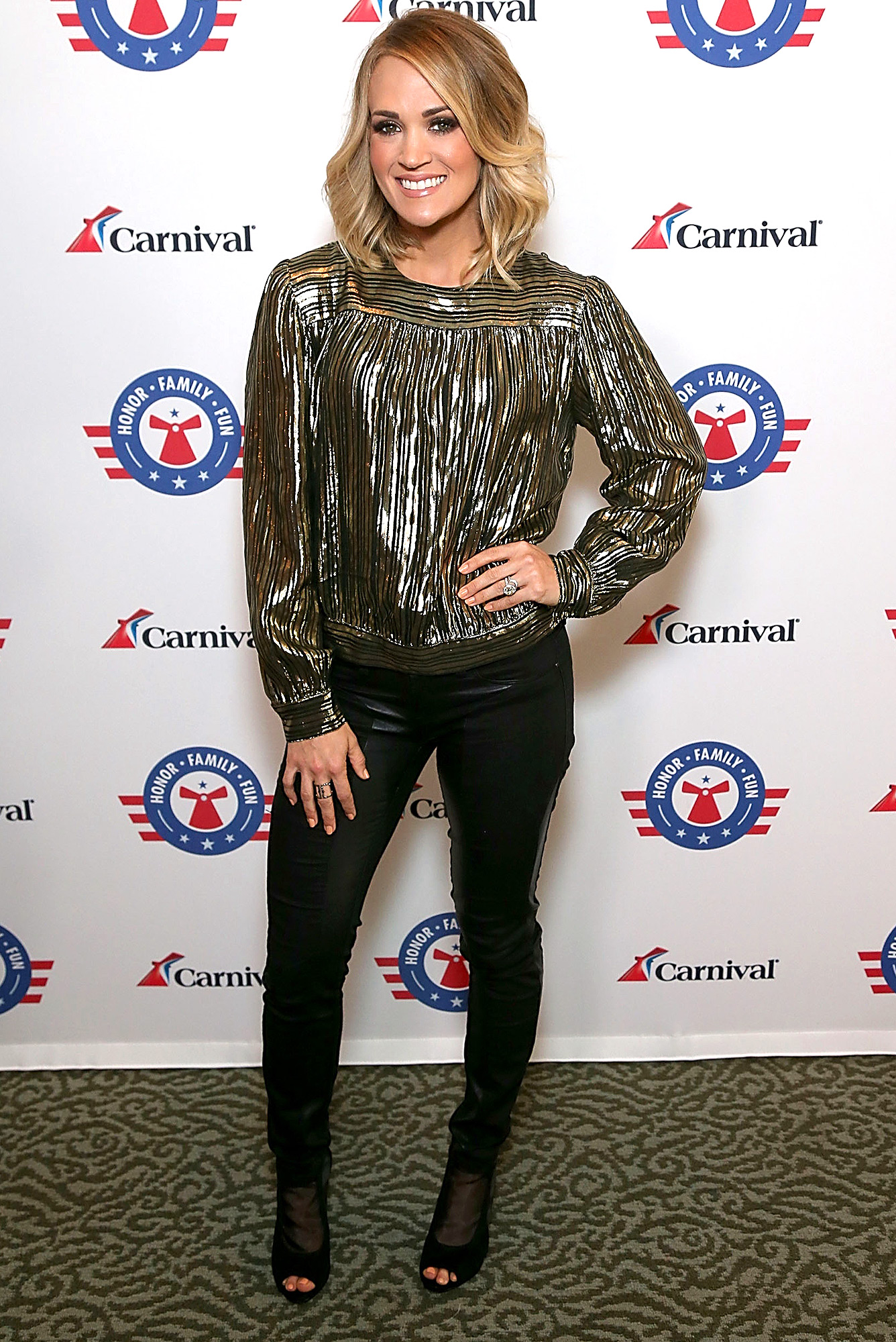 Carrie Underwood Performs Live On Cruise Ship Carnival Imagination