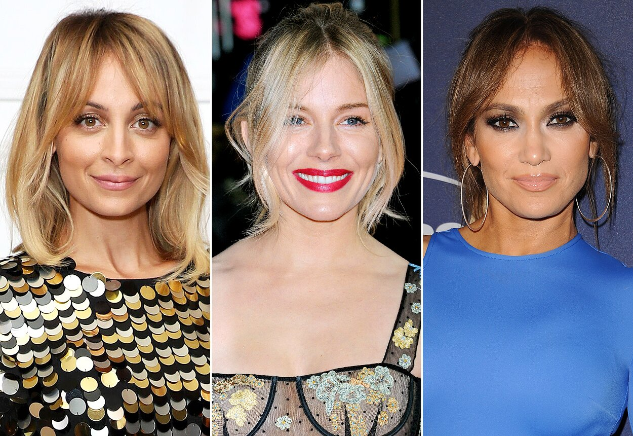Celebrities With Curtain Bangs People Com
