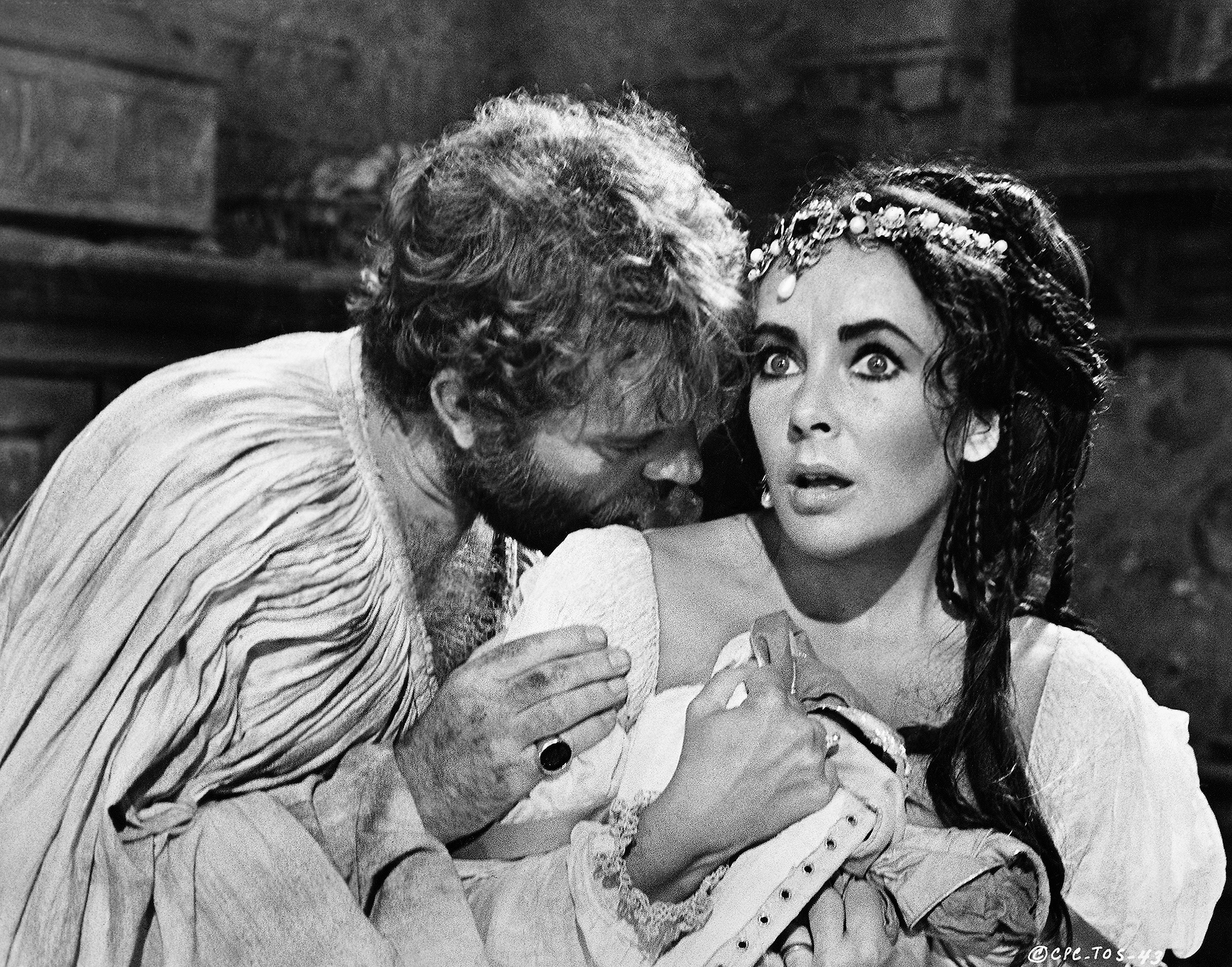 Richard Burton and Elizabeth Taylor in The Taming of the Shrew