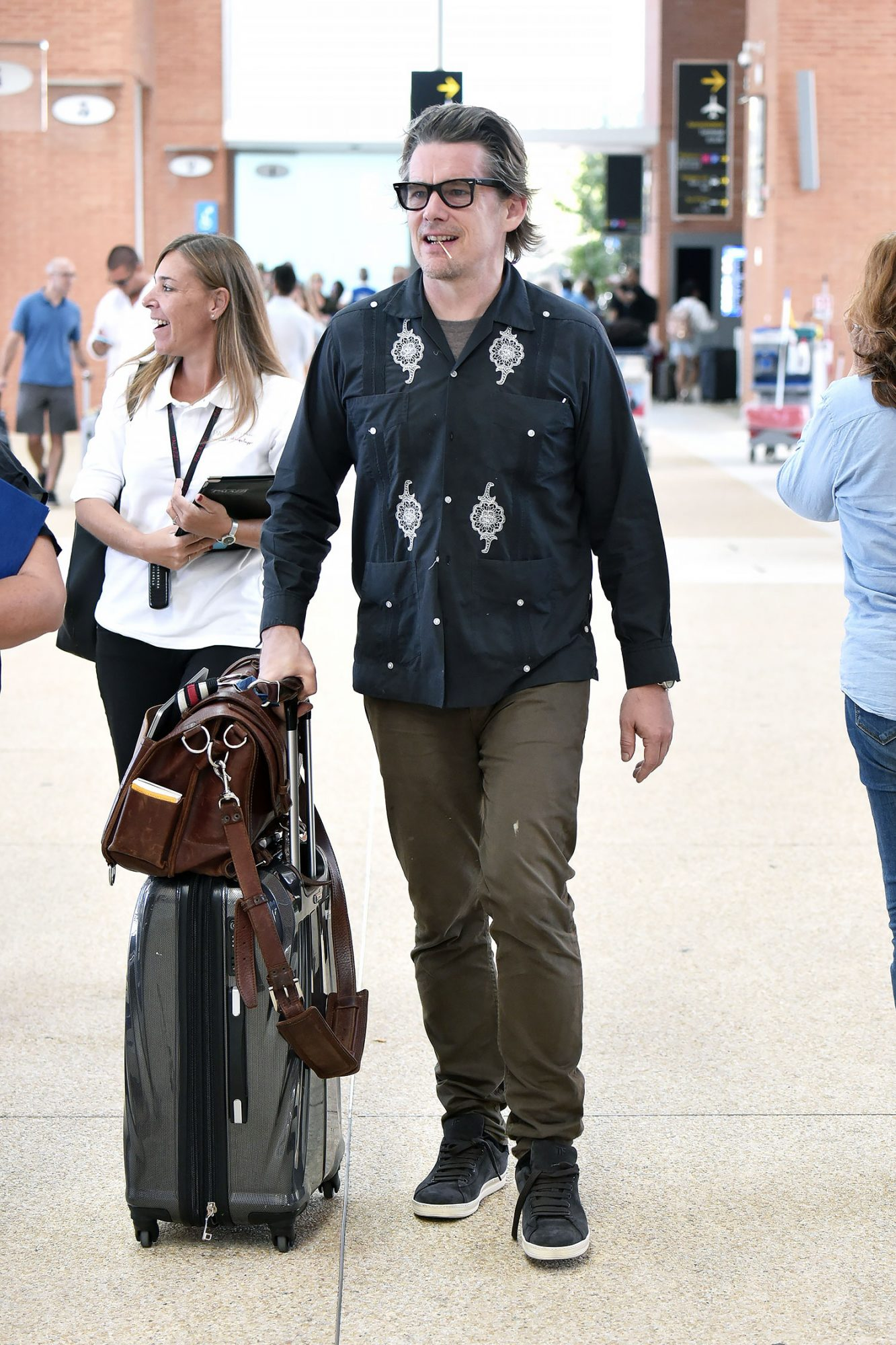 Airport Celebrity Sightings during The 74th Venice Film Festival - August 30, 2017