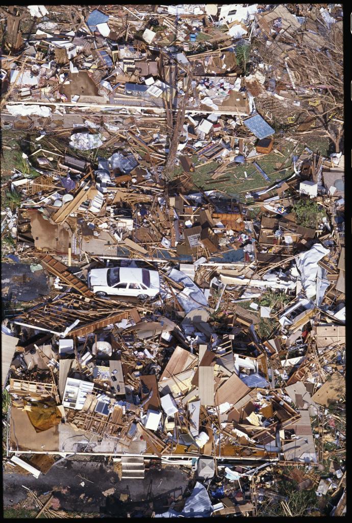 Destroyed Buildings from Hurricane