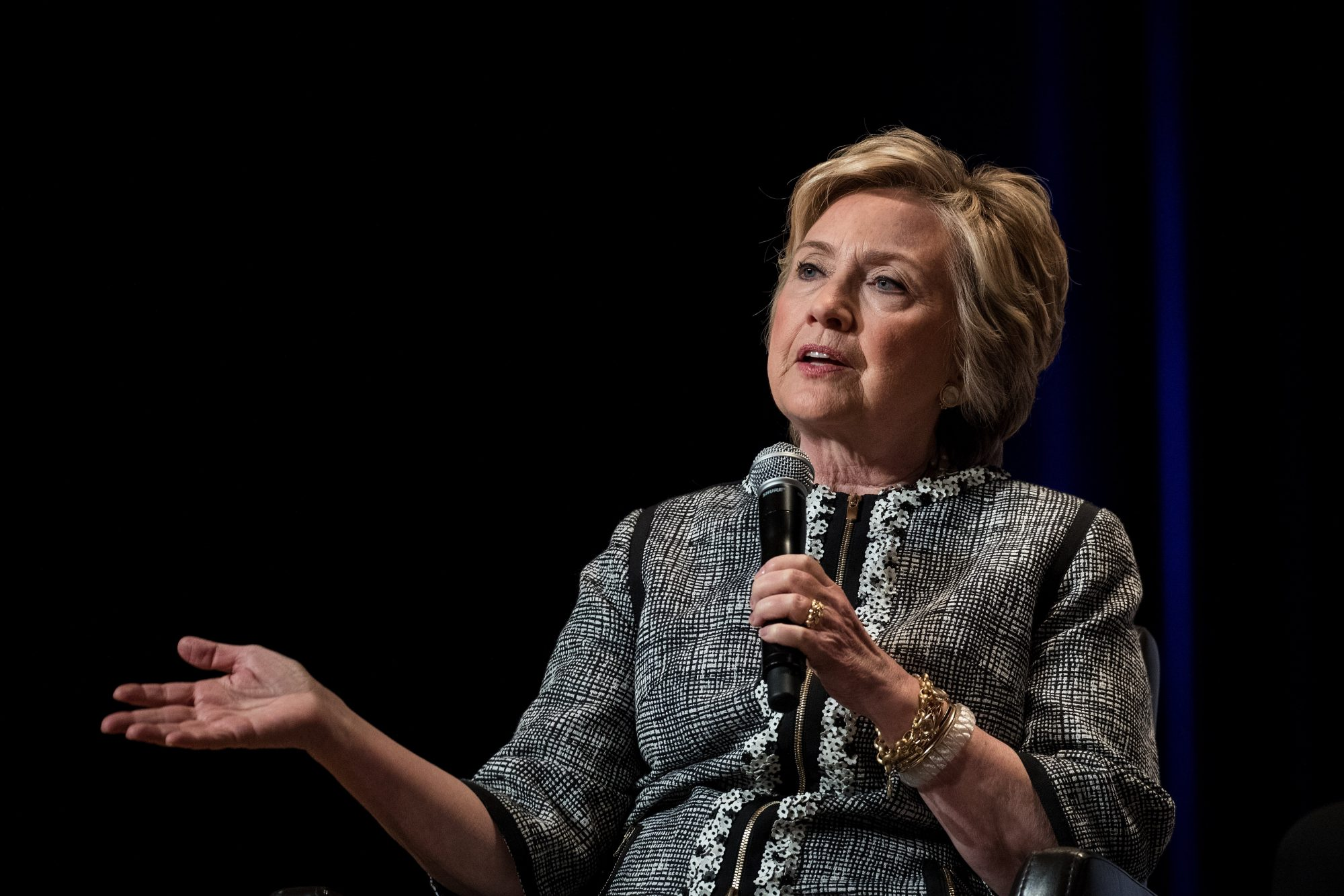 Hillary Clinton Addresses Book Expo In New York City