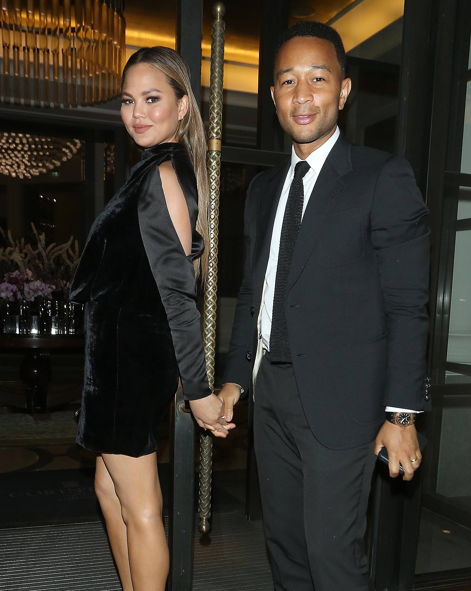 EXCLUSIVE: Chrissy Teigen and John Legend celebrate there fourth wedding anniversary with a date night in London