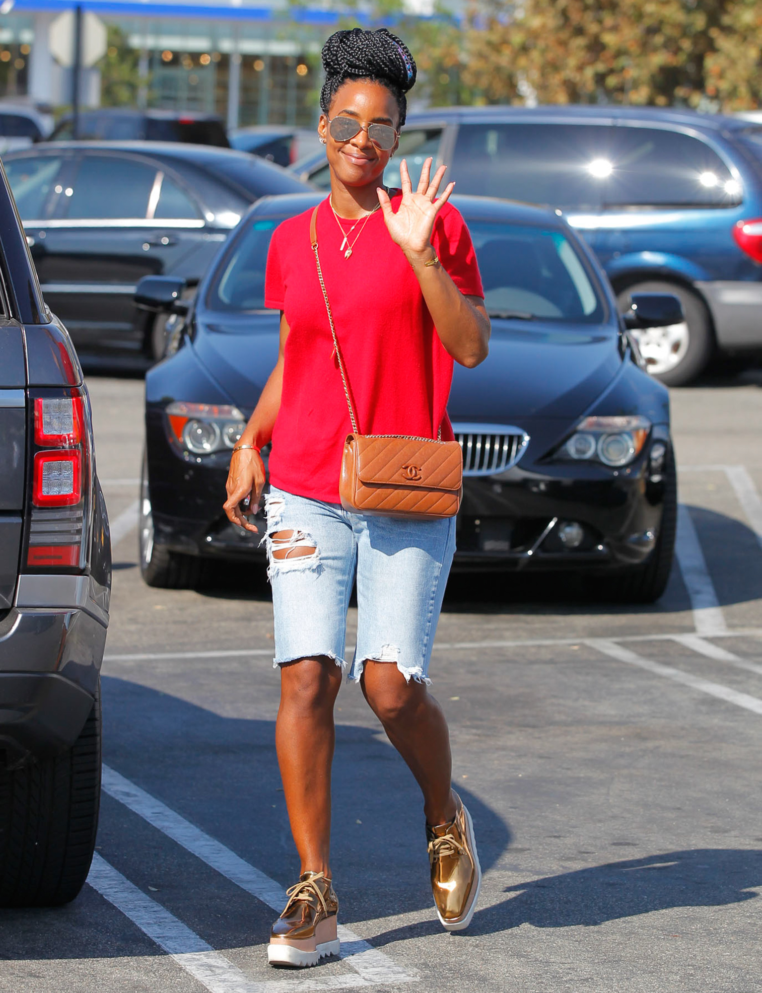 EXCLUSIVE: Kelly Rowland shopping in Beverly Hills