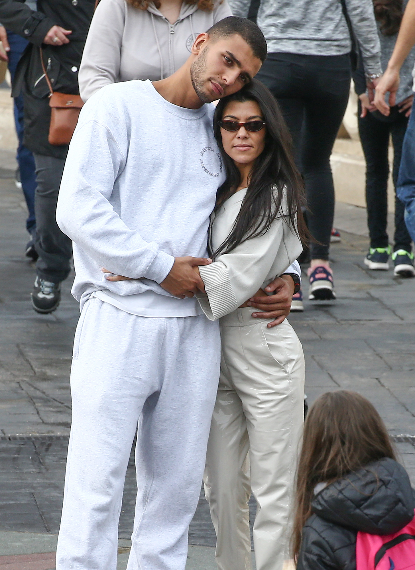 Kourtney Kardashian and Younes Bendjima enjoy a trip on Big Thunder Mountain at Disneyland Paris