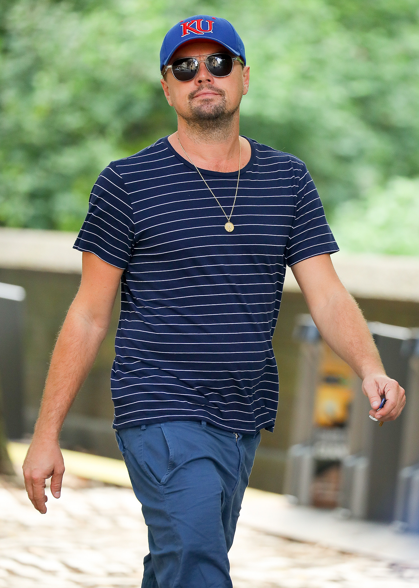 EXCLUSIVE: Leonardo DiCaprio was spotted taking a walk around Central Park in New York City