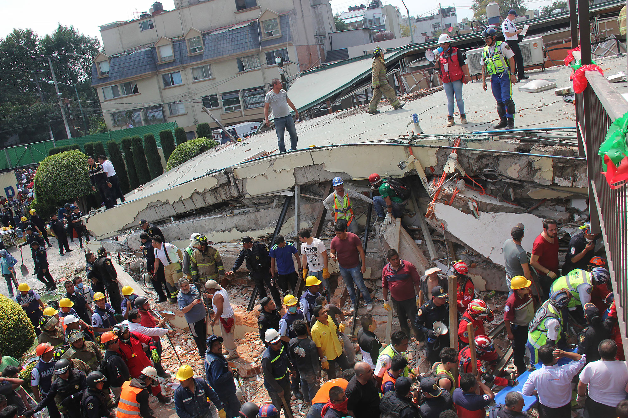 APTOPIX Mexico Earthquake