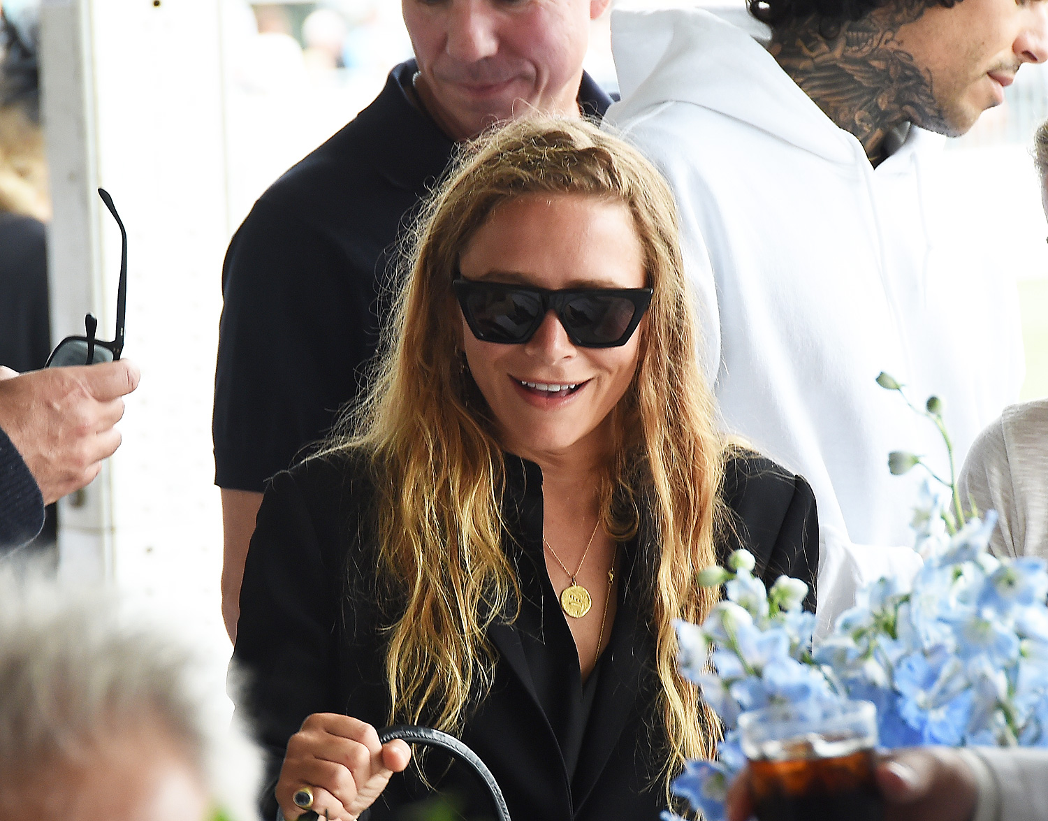 Ashley Olsen attend the  Grand Prix and final day of the Hampton Classic Horse Show in Bridgehampton