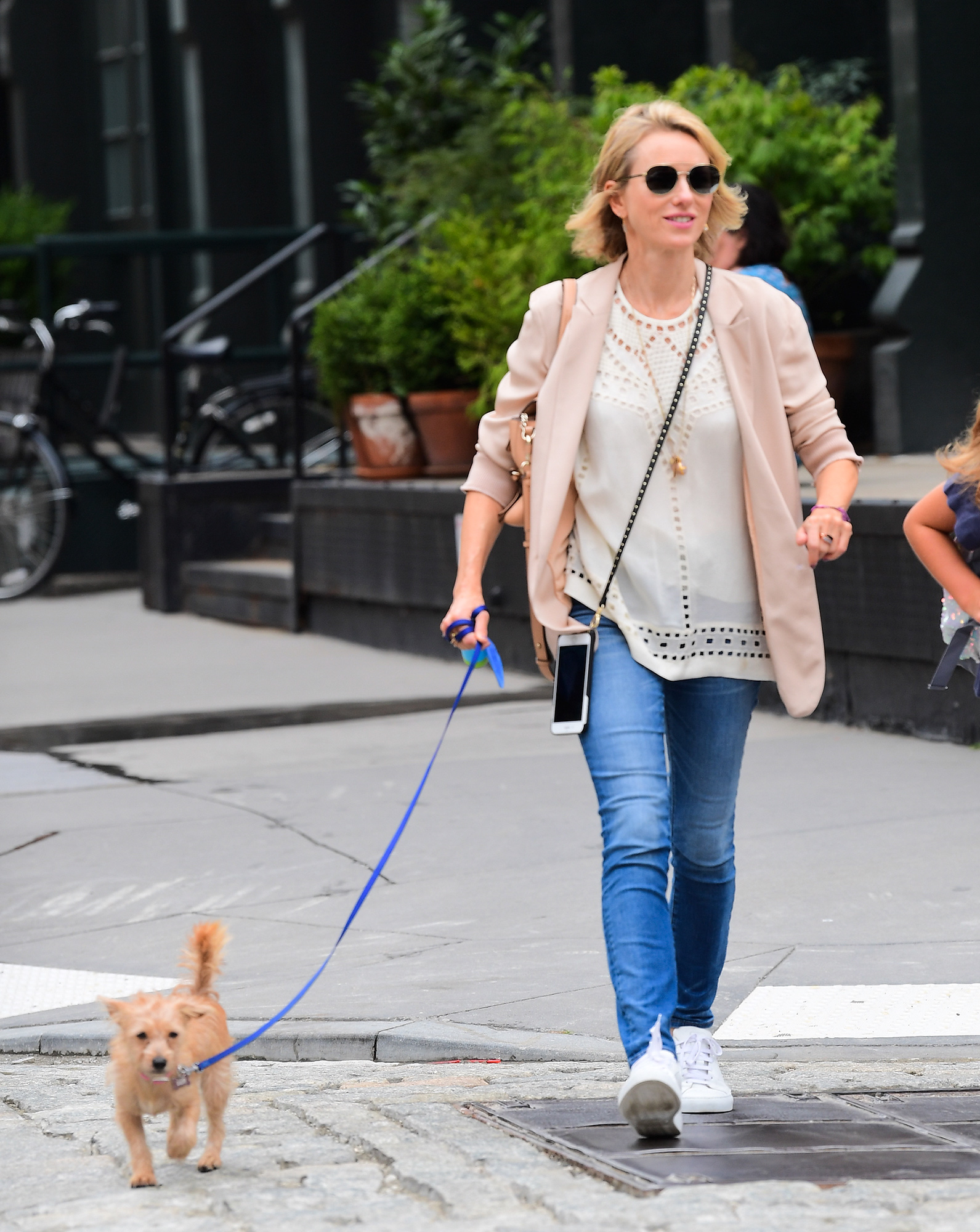 Actress Naomi Watts is NYC's Chicest Dog Walker