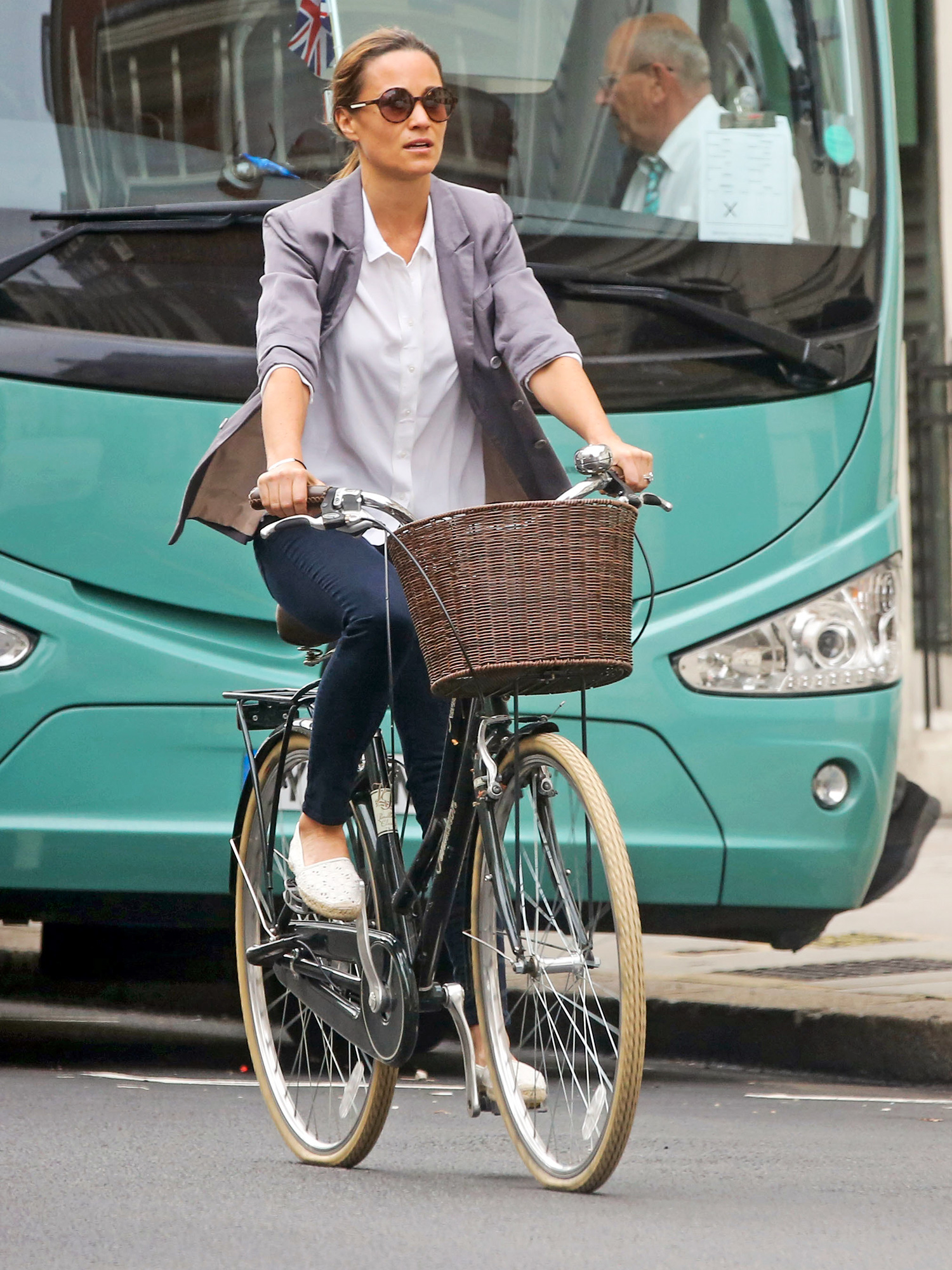 EXCLUSIVE: Birthday girl Pippa Middleton, who is rumoured to be following her sister into motherhood, goes for a bike ride on her 34th birthday