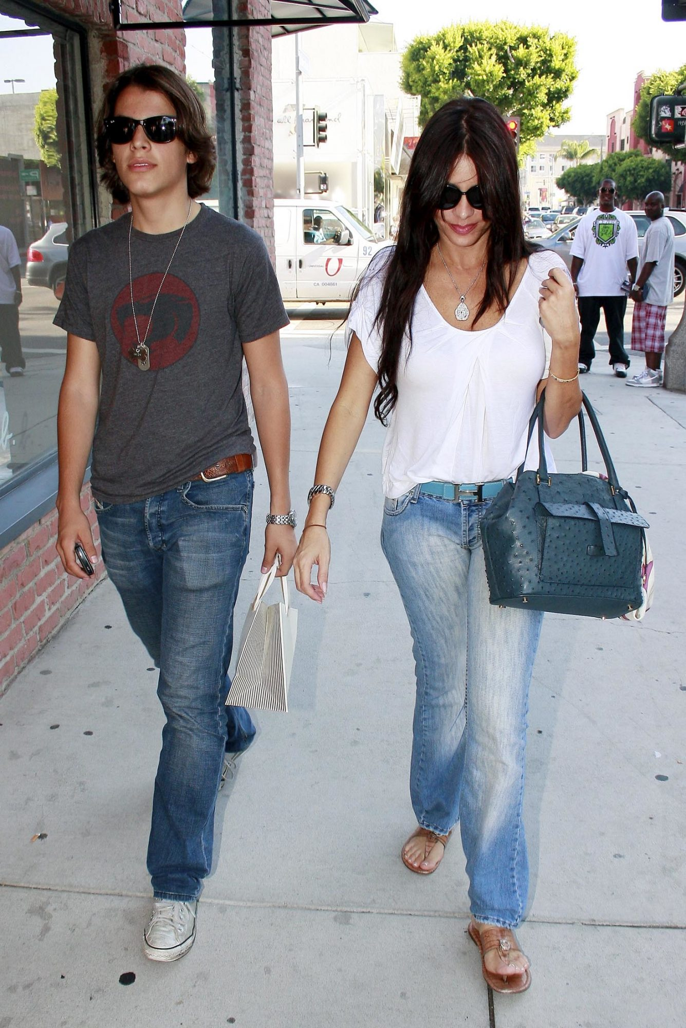 SOFIA VERGARA OUT WITH HER SON