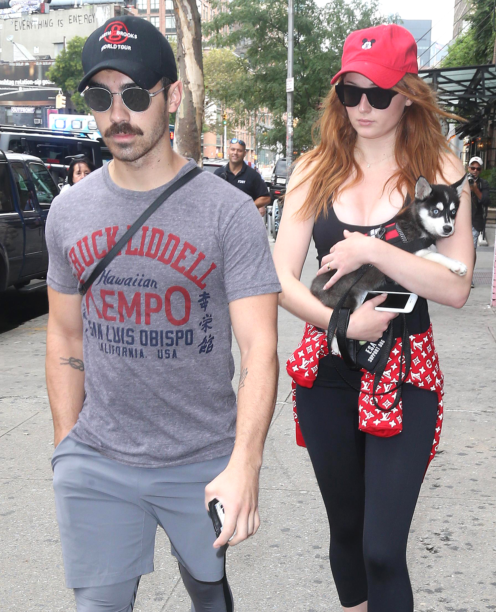 Sophie Turner and Joe Jonas Out with New Puppy Porky Basquiat