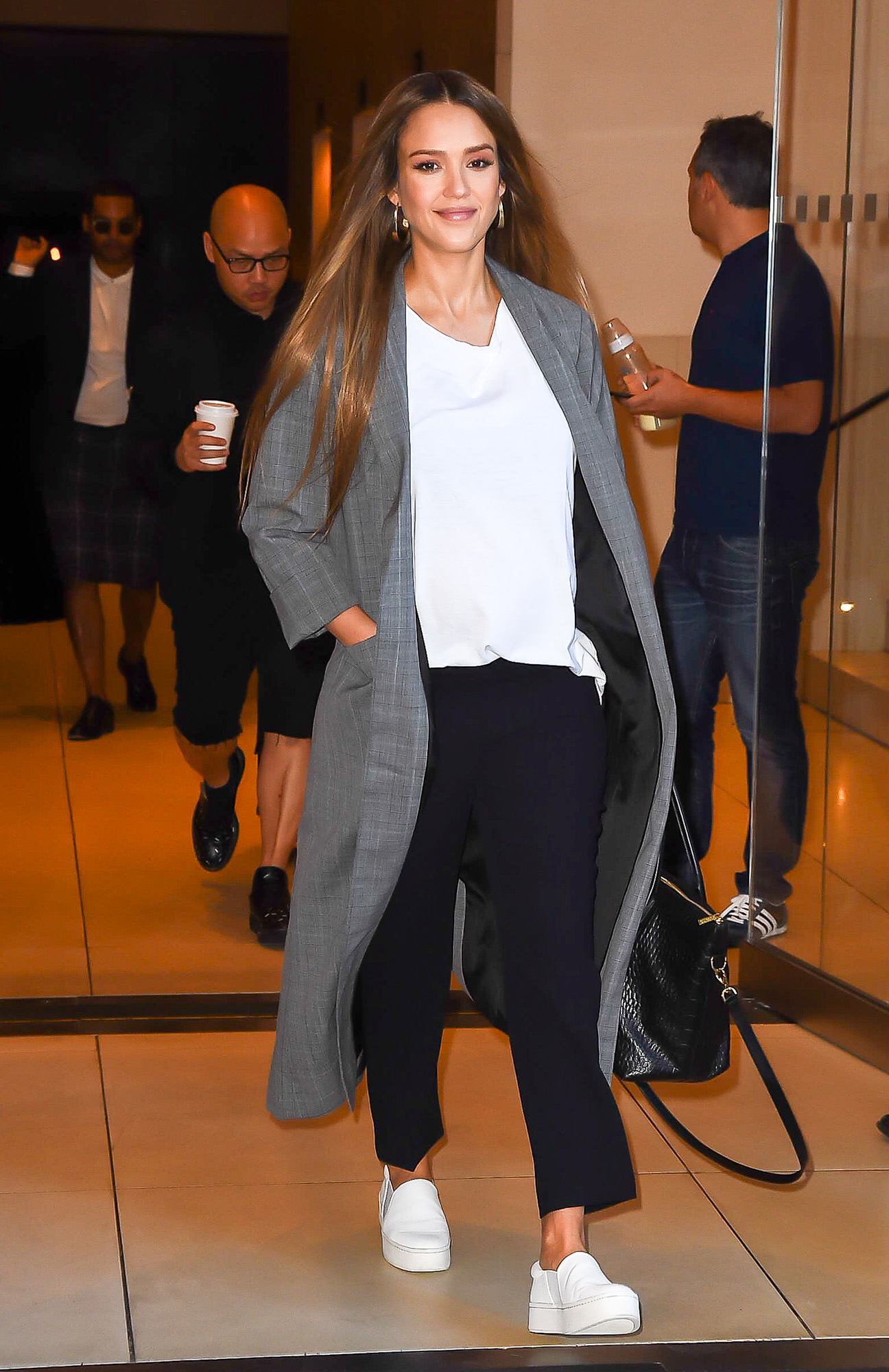 Jessica Alba is spotted leaving hotel in New York