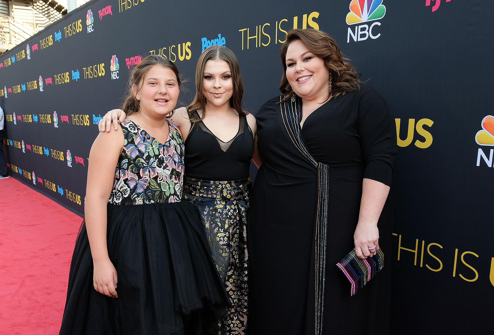 "THIS IS US -- ""This Is Us Season 2 Premiere Event"" at NeueHouse Hollywood in Los Angeles on Tuesday, September 26, 2017 -- Pictured: (l-r) Mackenzie Hancsicsak, Hannah Zeile, Chrissy Metz -- (Photo by: Tyler Golden/NBC)"
