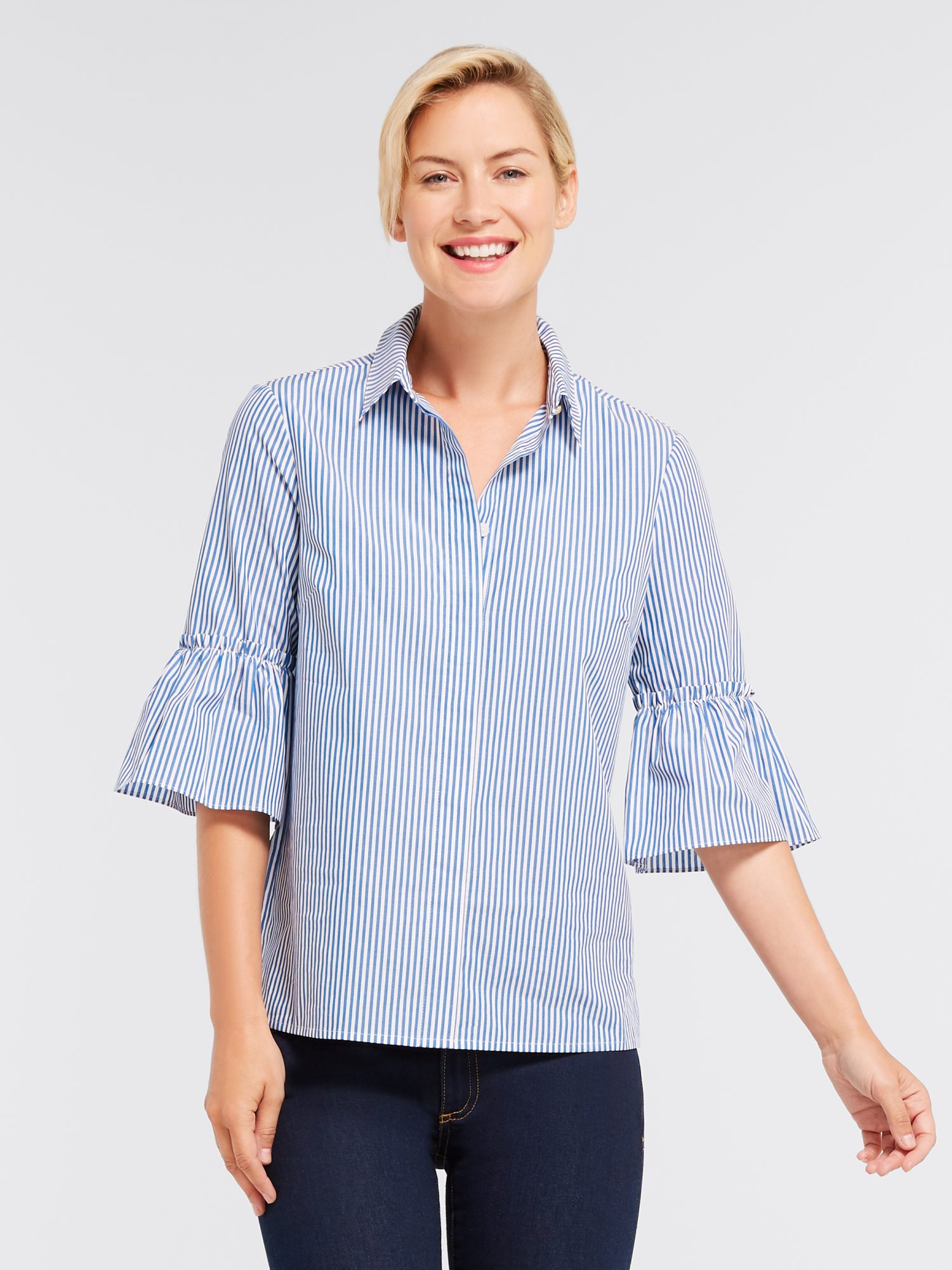STRIPE ANDREA BUTTON DOWN