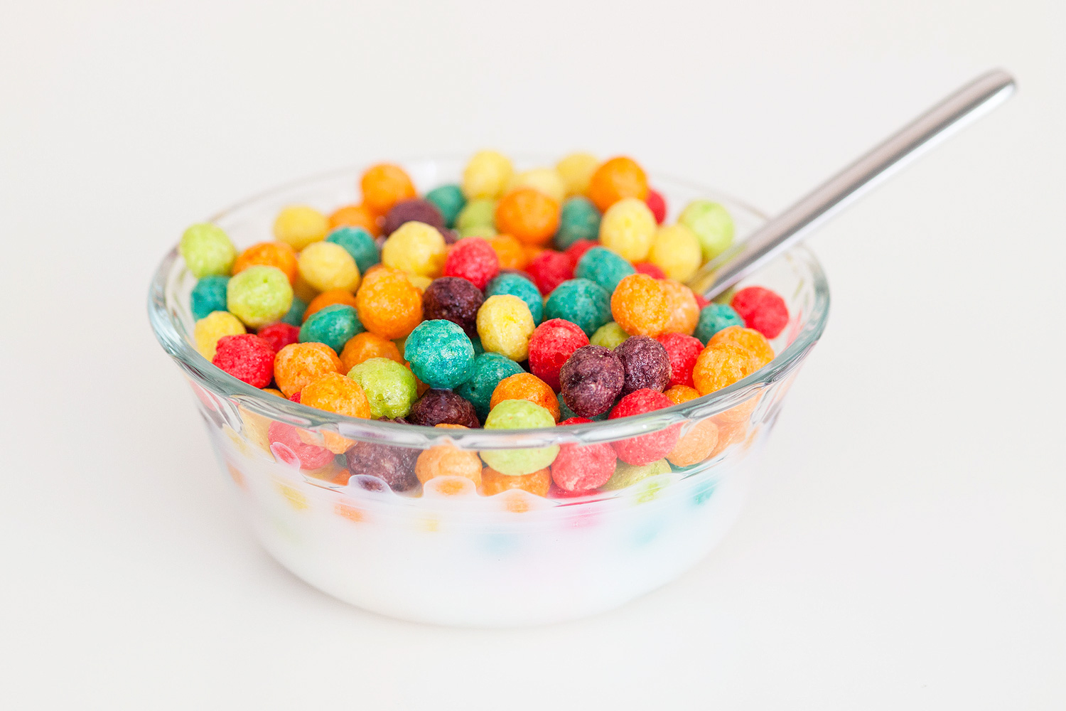 A box of colourful Trix cereal, a kiddie breakfast cereal produced by General Mills, Inc.