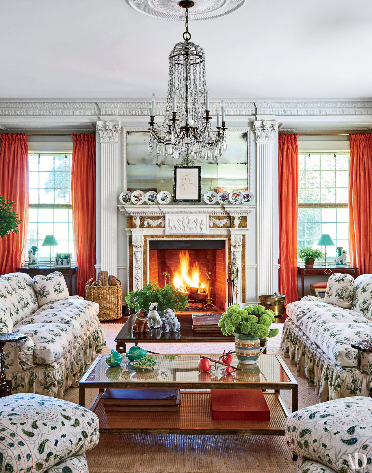tory burch for october issue of architectural digest