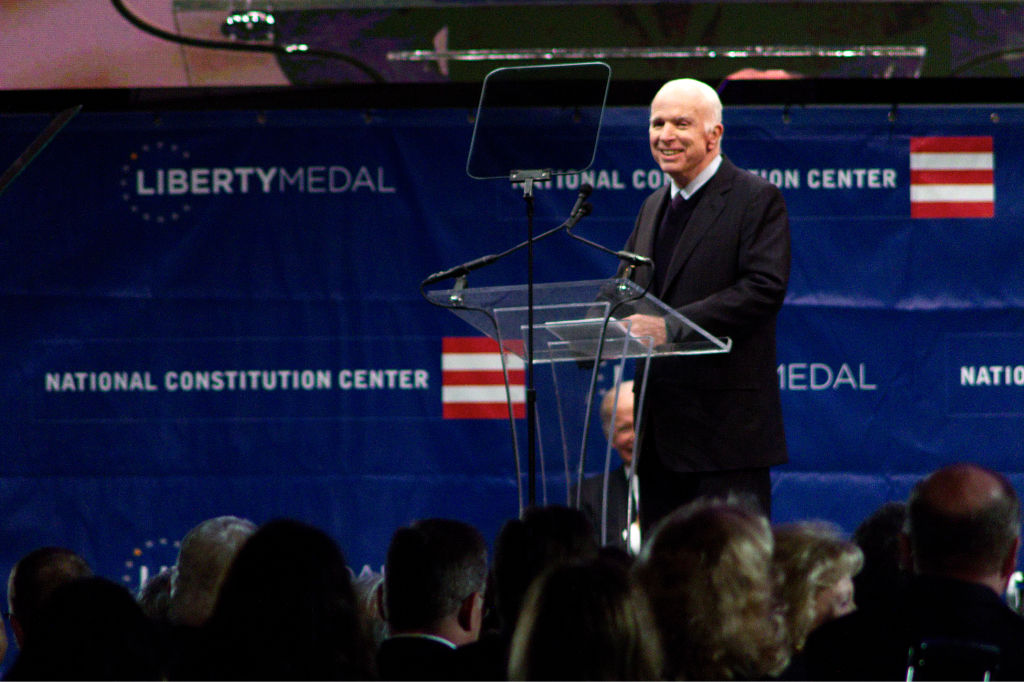 John McCain Honored With Liberty Medal For A Lifetime Of Service
