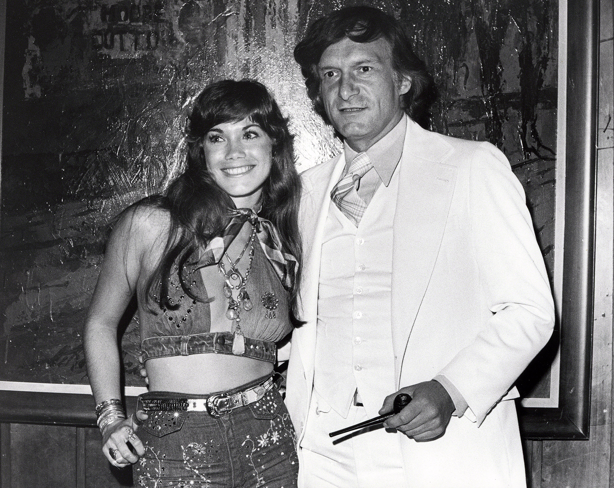 Barbi Benton and Hugh Hefner at the Playboy Club
