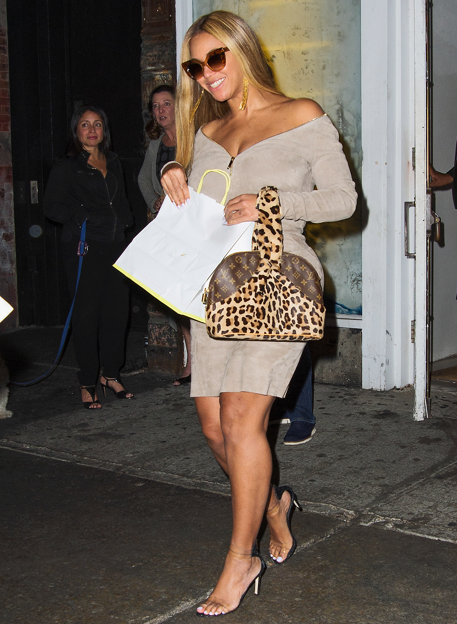 Beyonce is all smiles as she leaves ABC kitchen with her husband Jay-Z in NYC