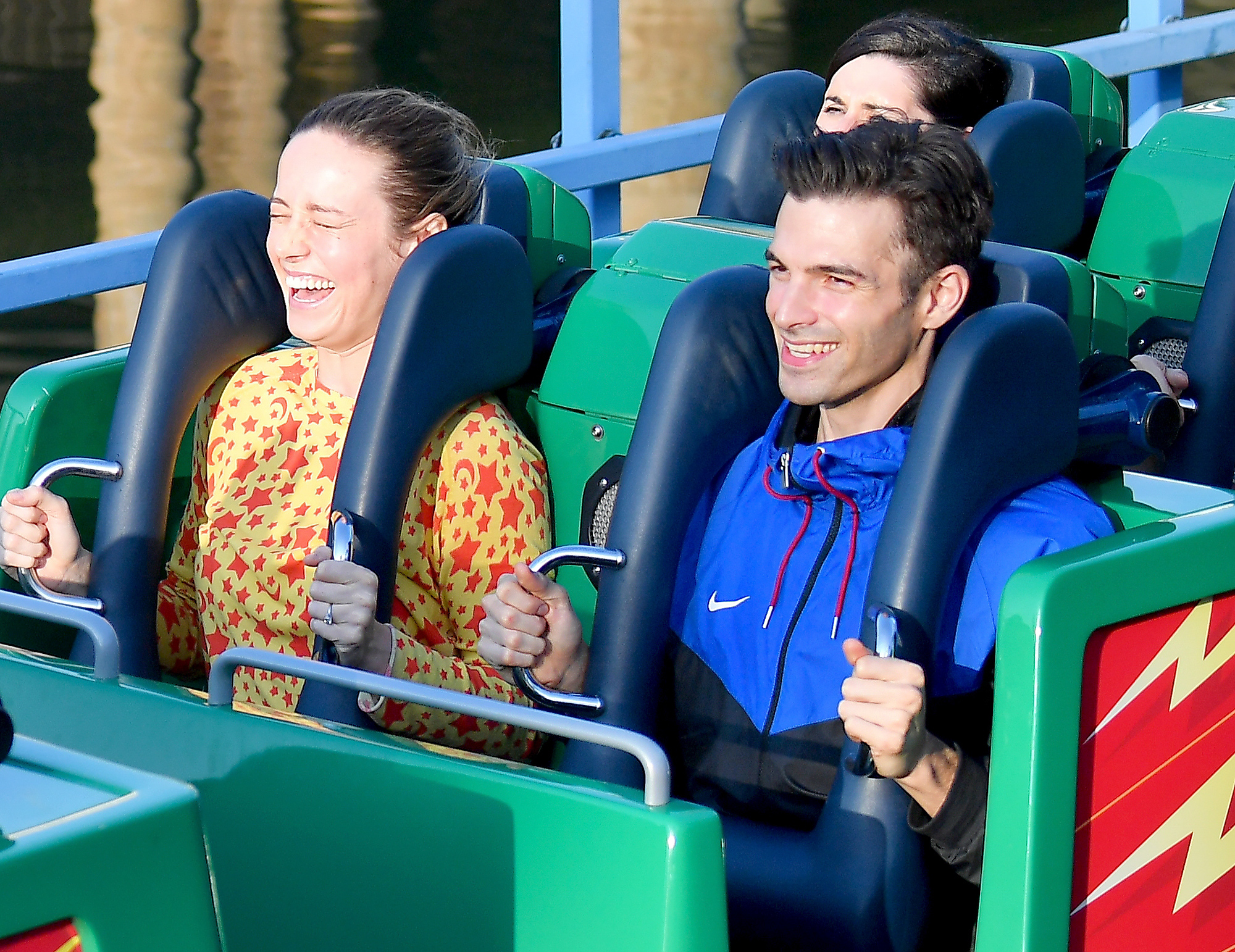 EXCLUSIVE: Brie Larson and her fiance Alex Greenwald enjoy a day at the happiest place on Earth, Disneyland