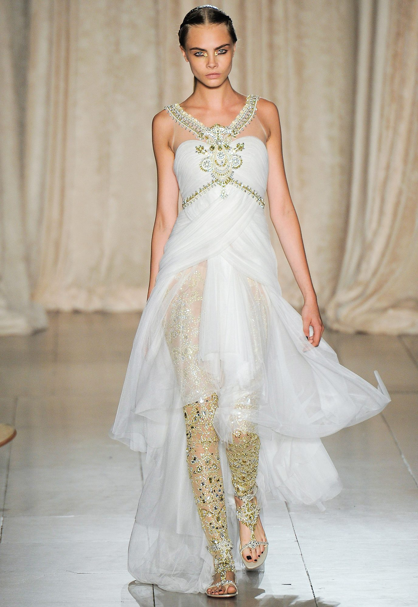 Cara Delevingne at Marchesa 2013